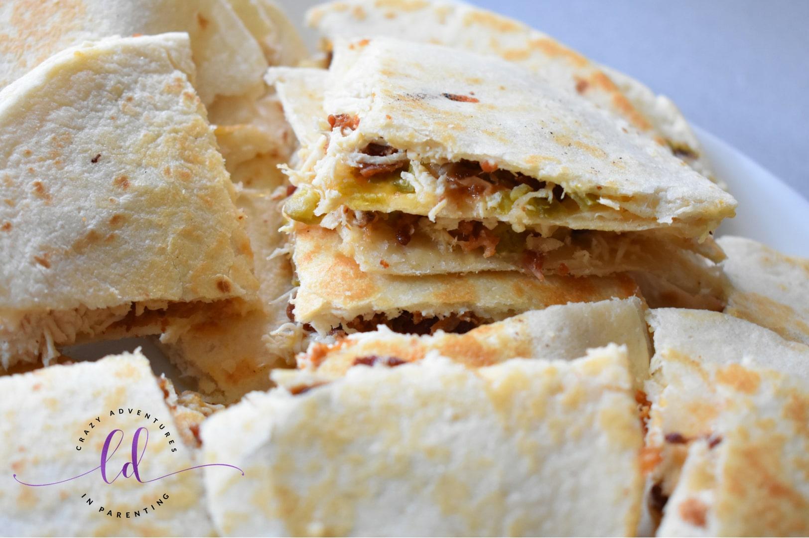 Chicken Bacon Ranch Quesadillas Recipe with Jalapeños
