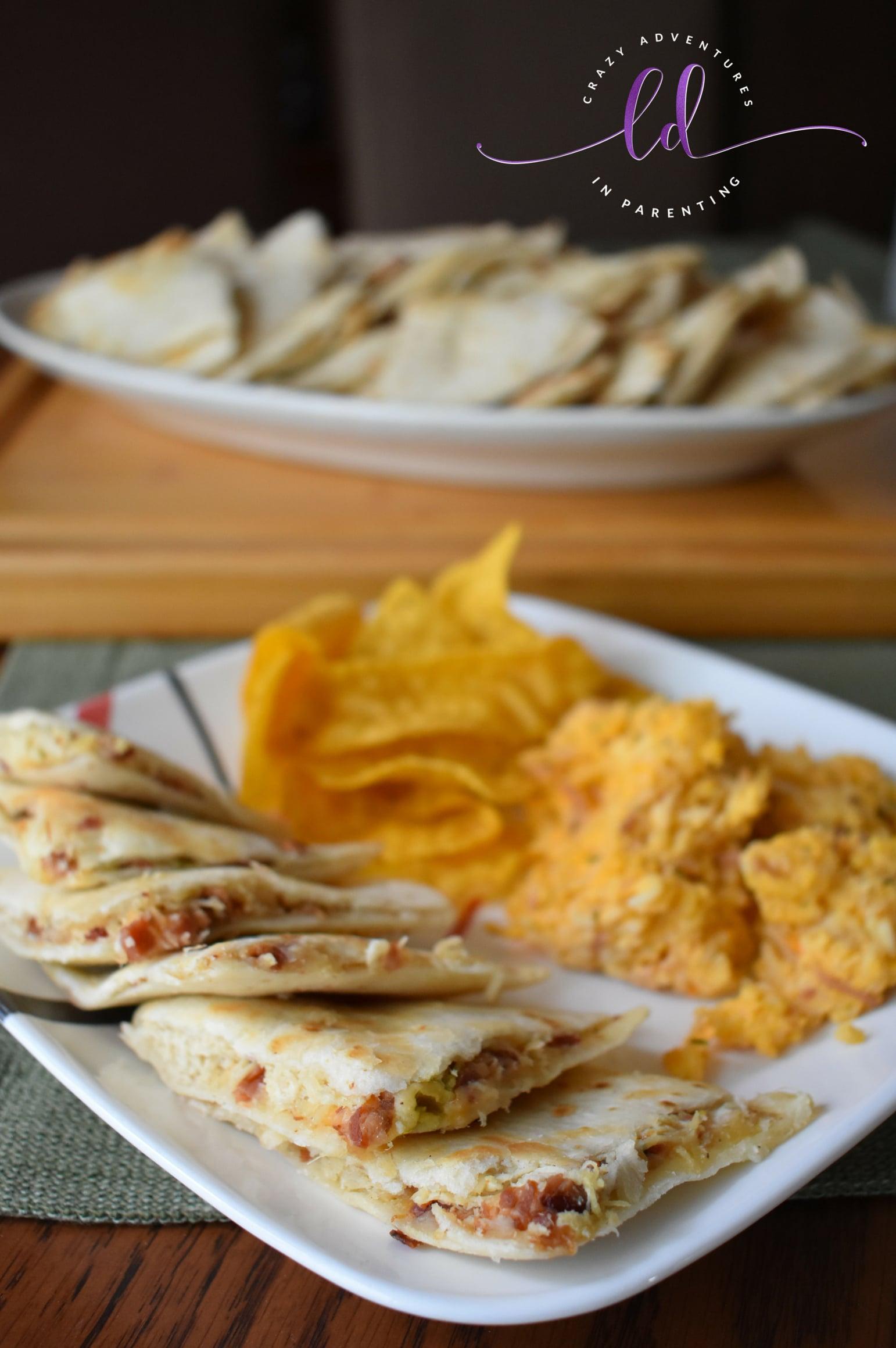 Chili's Copycat Chicken Bacon Ranch Quesadilla Recipe with Jalapeños