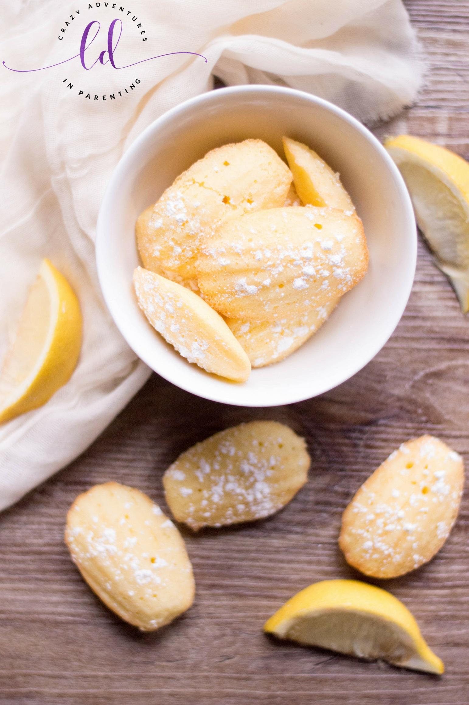 Classic Lemon Madeleines
