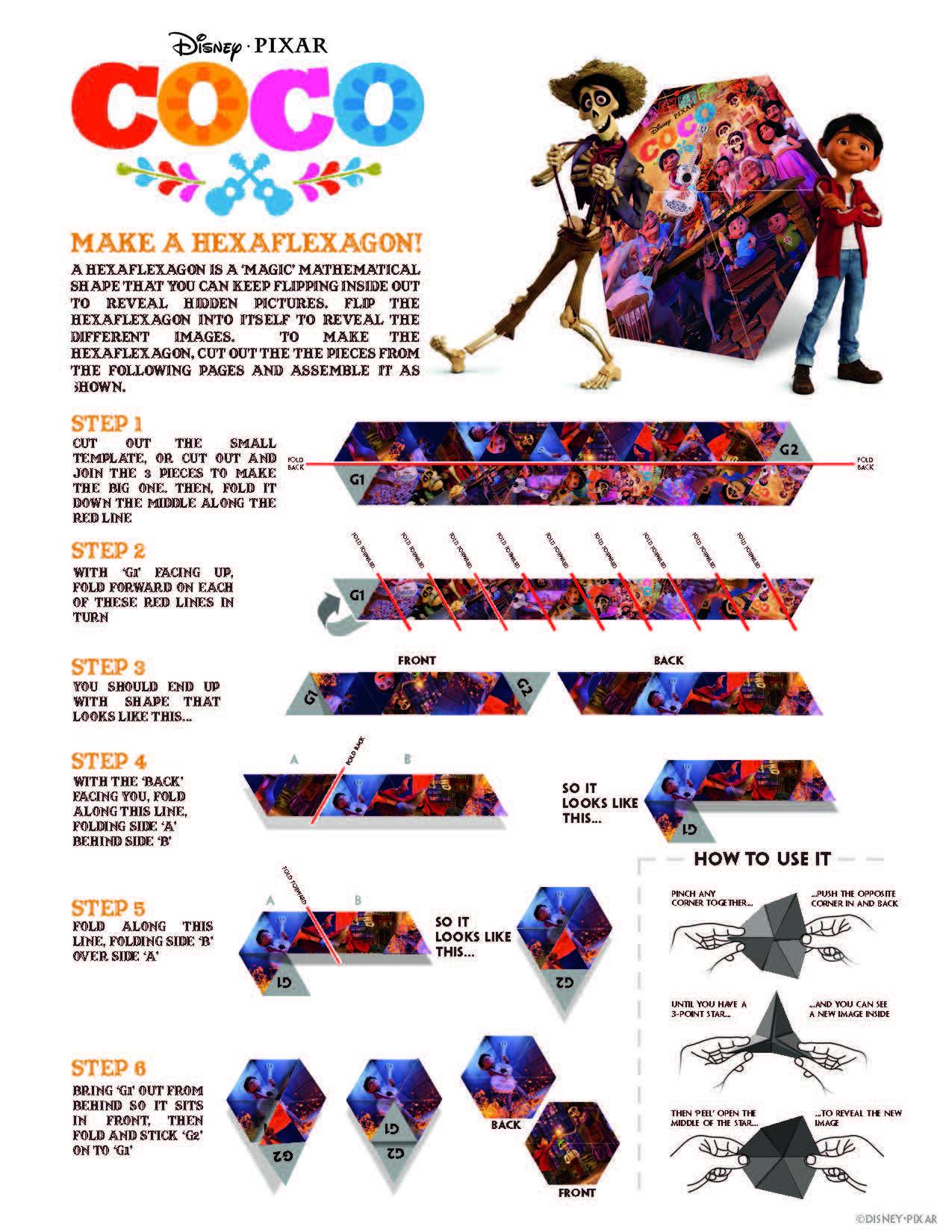 Coco Activity Sheets - Hexaflexagon