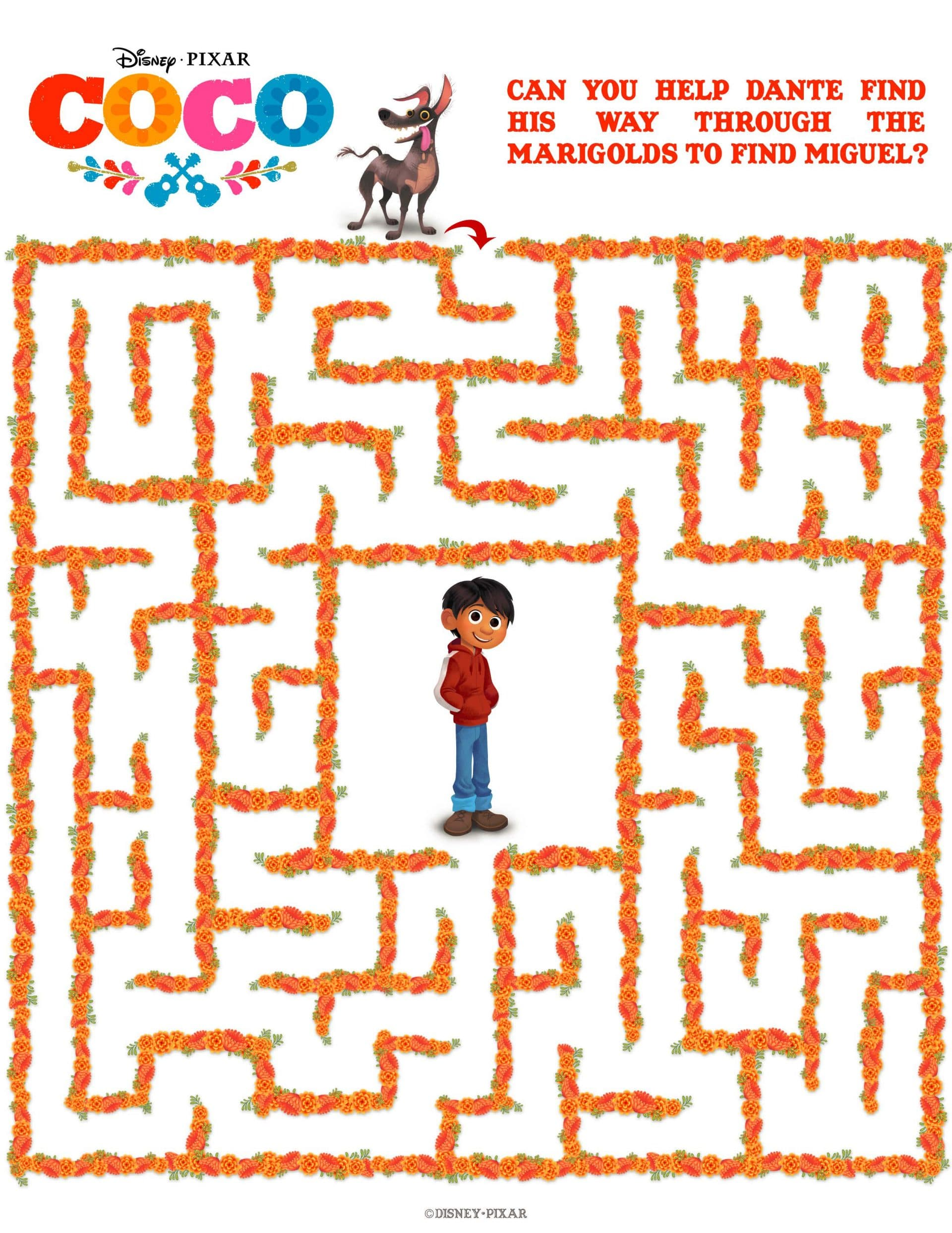 Coco Activity Sheets - Maze