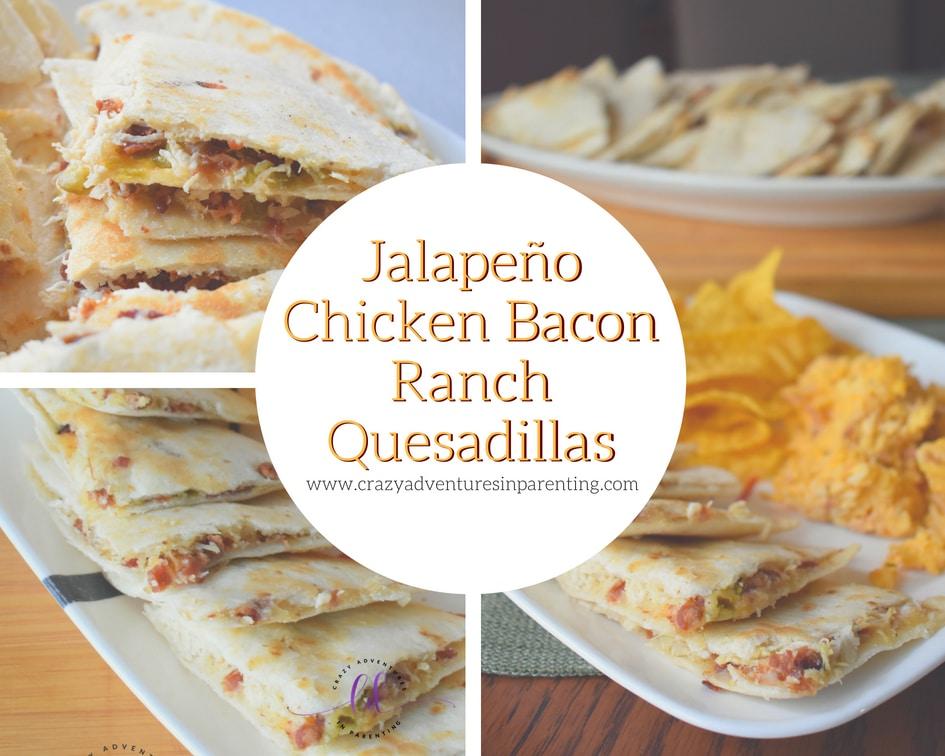 Jalapeño Chicken Bacon Ranch Quesadillas Recipe