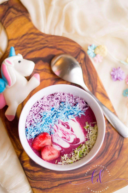 How to make unicorn smoothie bowls