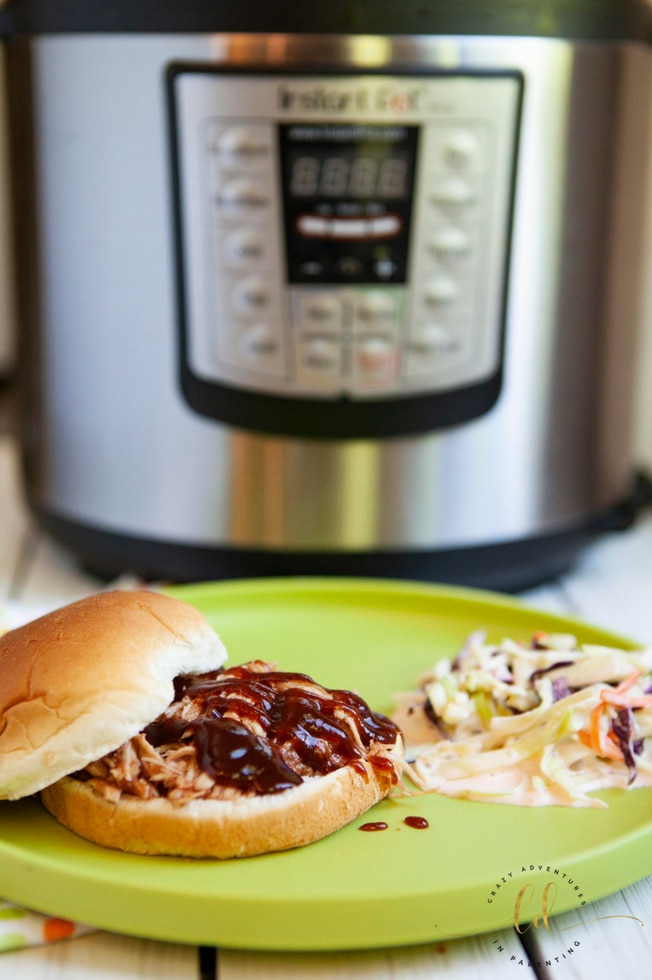 Instant Pot Pulled Barbecue Chicken - ready to eat