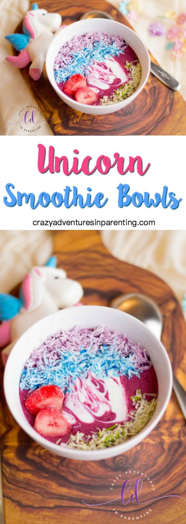 Unicorn Smoothie Bowls