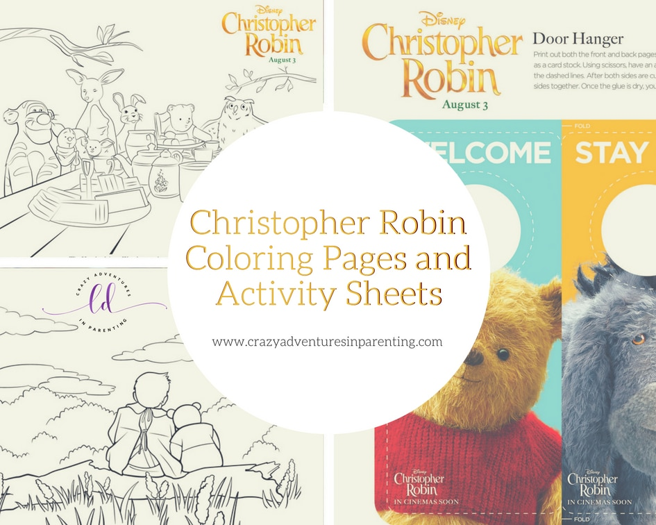 Christopher Robin Coloring Pages and Activity Sheets to print