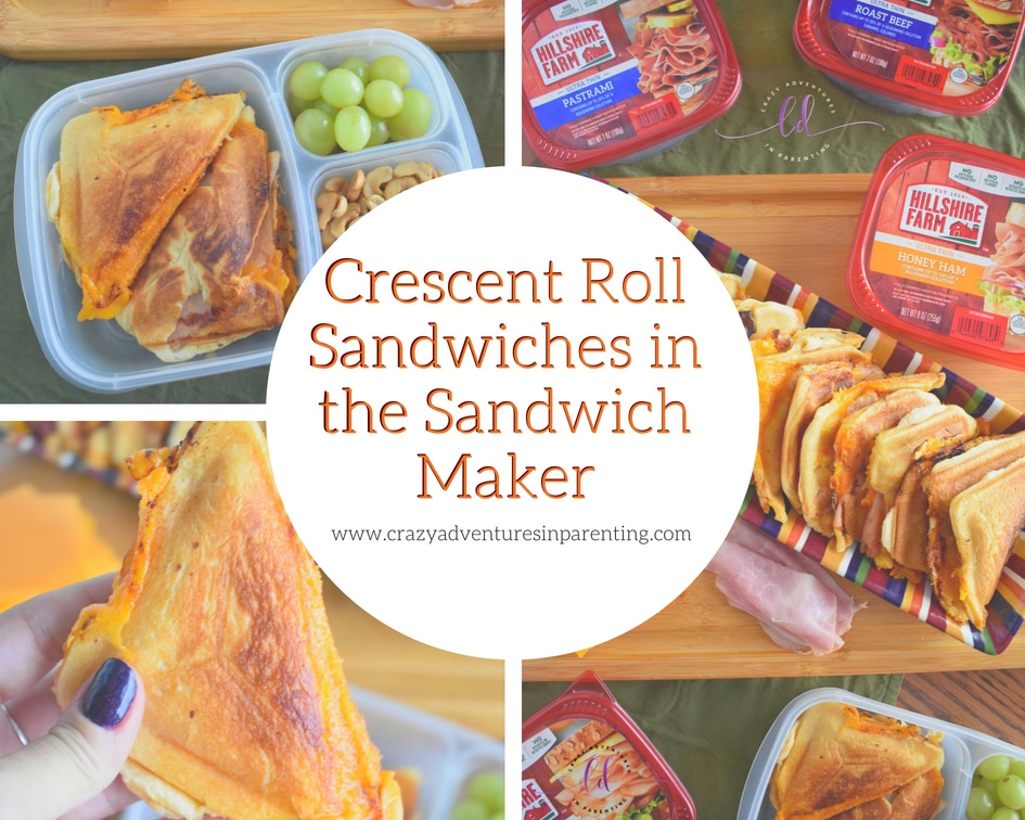 Crescent Roll Sandwiches in the Sandwich Maker