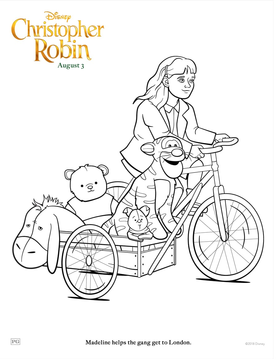 Christopher Robin Coloring Pages and Activity Sheets | Crazy ...