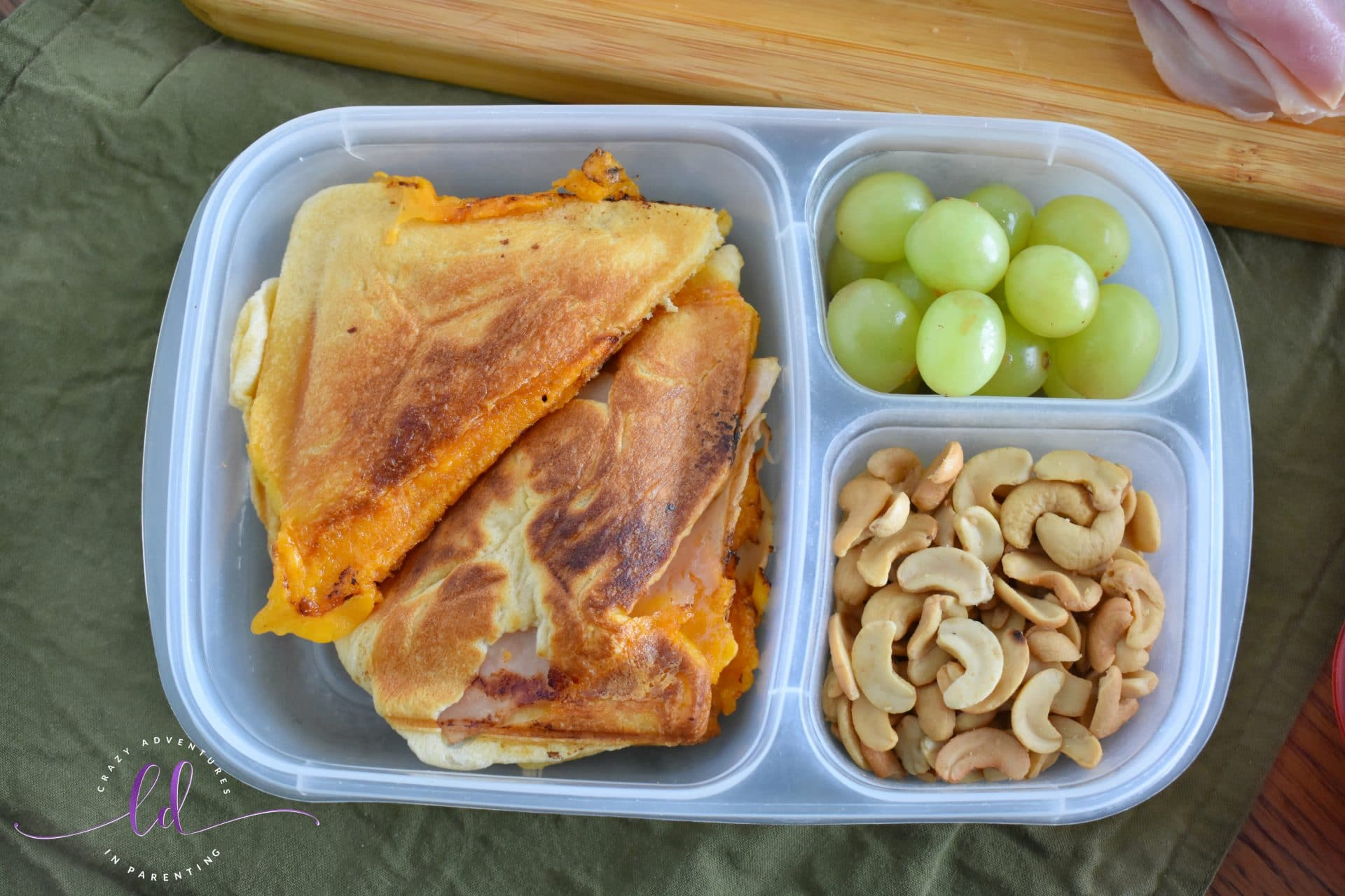 School Lunch Ideas - Crescent Roll Sandwiches in the Sandwich Maker