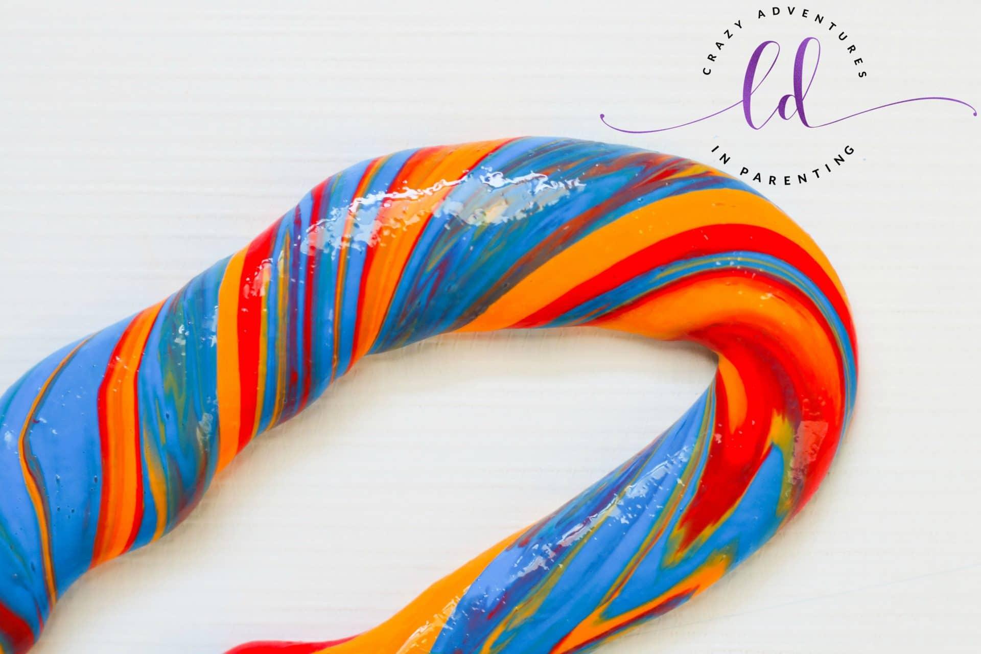 Beautiful rainbow slime rope