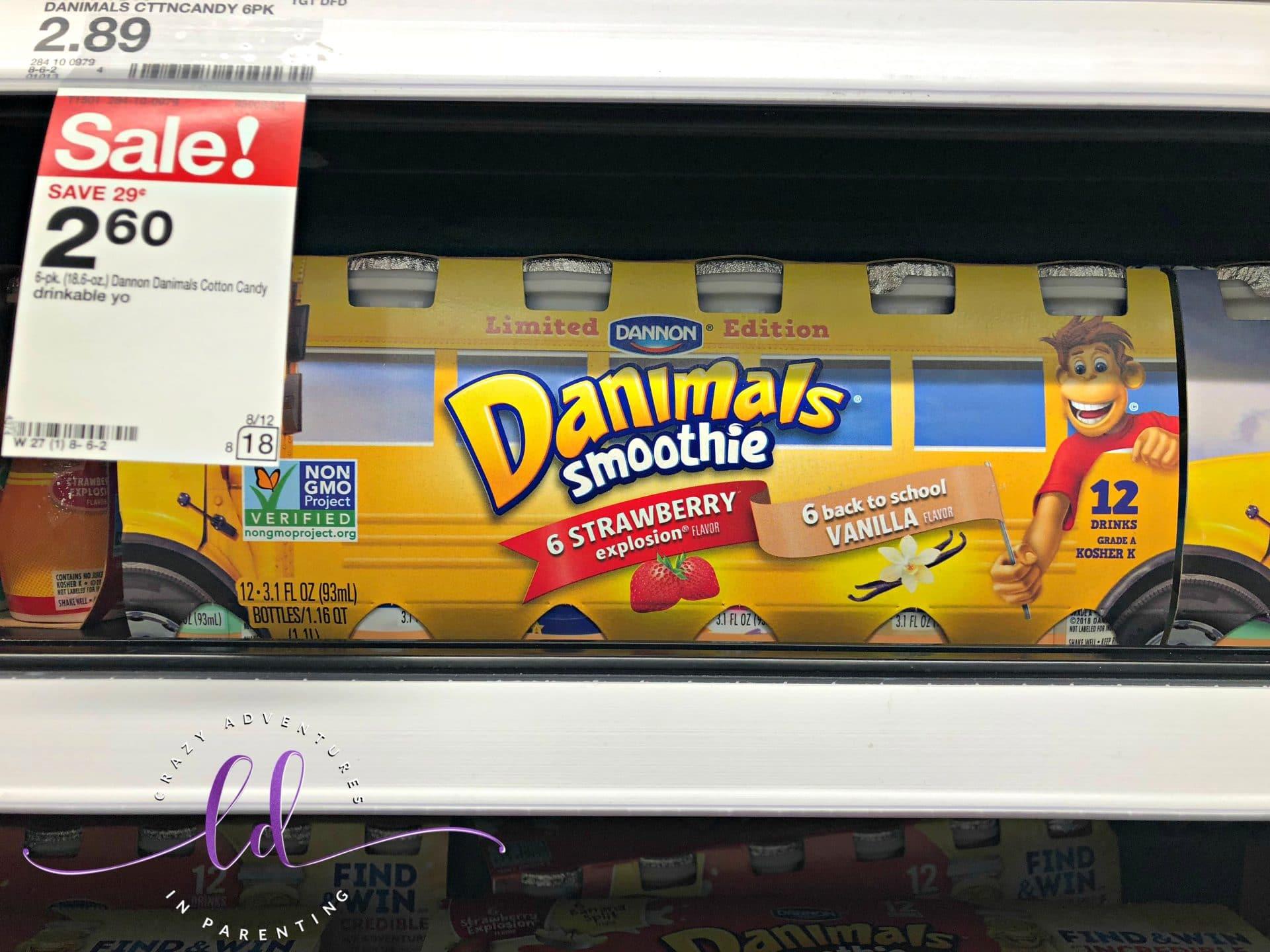 Danimals Smoothies at Target