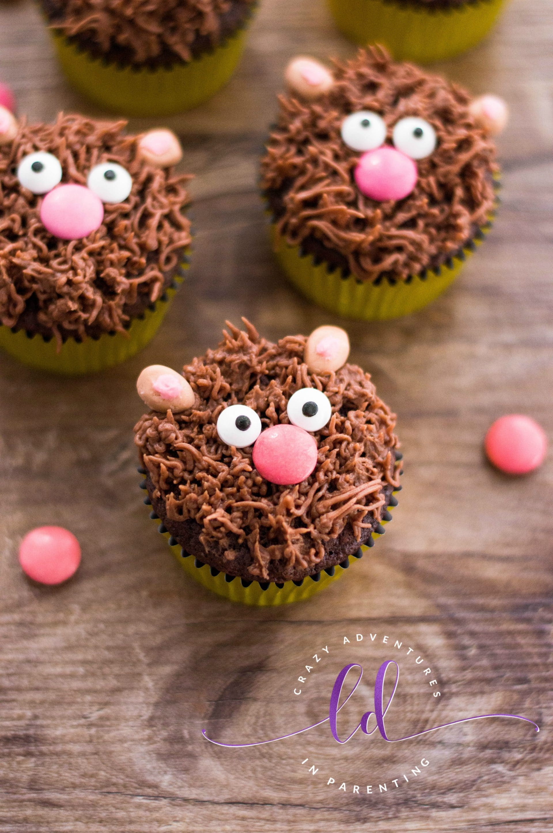 Easy Teddy Bear Cupcakes