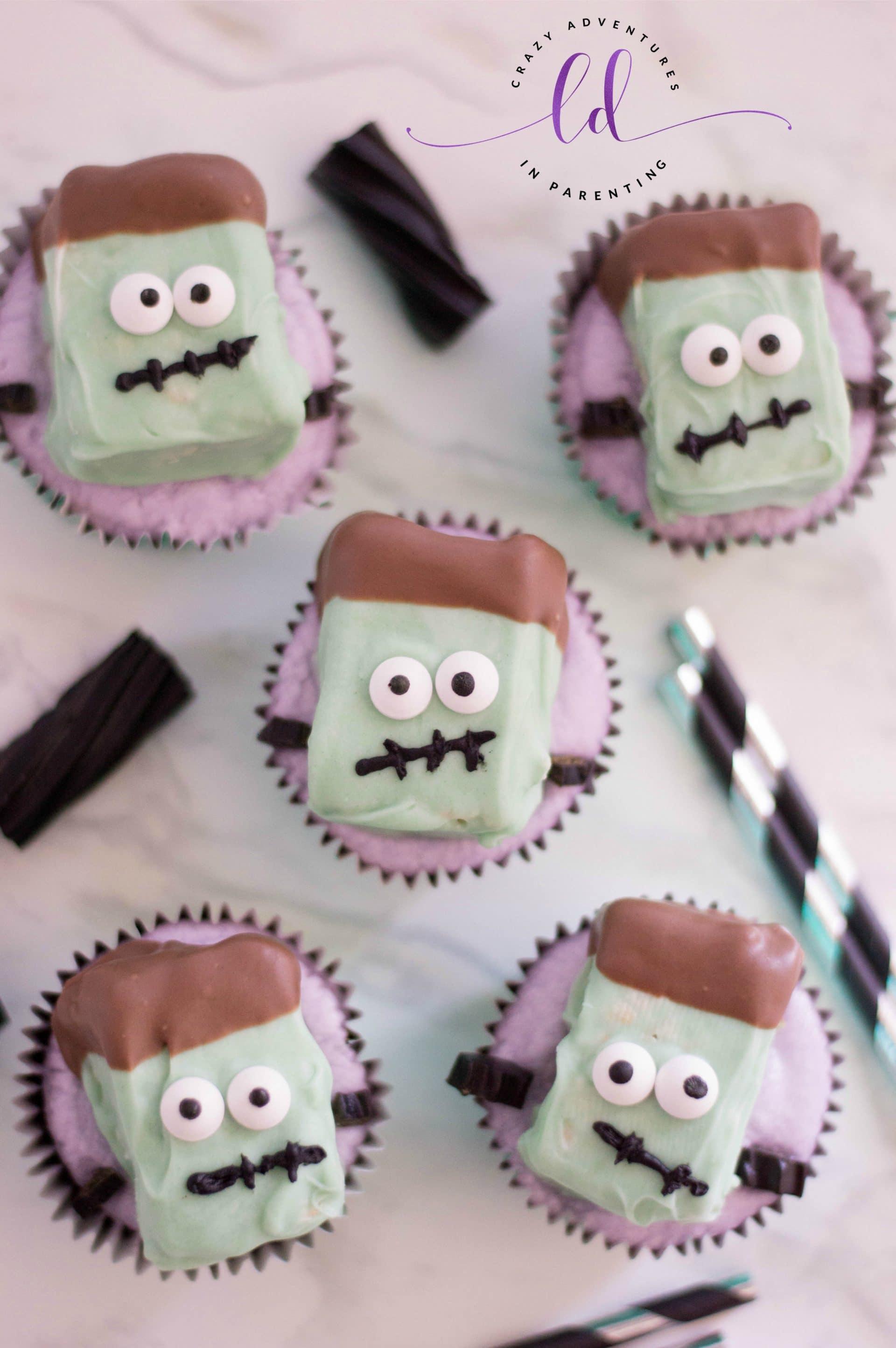 Frankenstein Cupcakes Recipe for Halloween