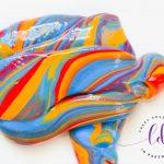 Rainbow slime goop