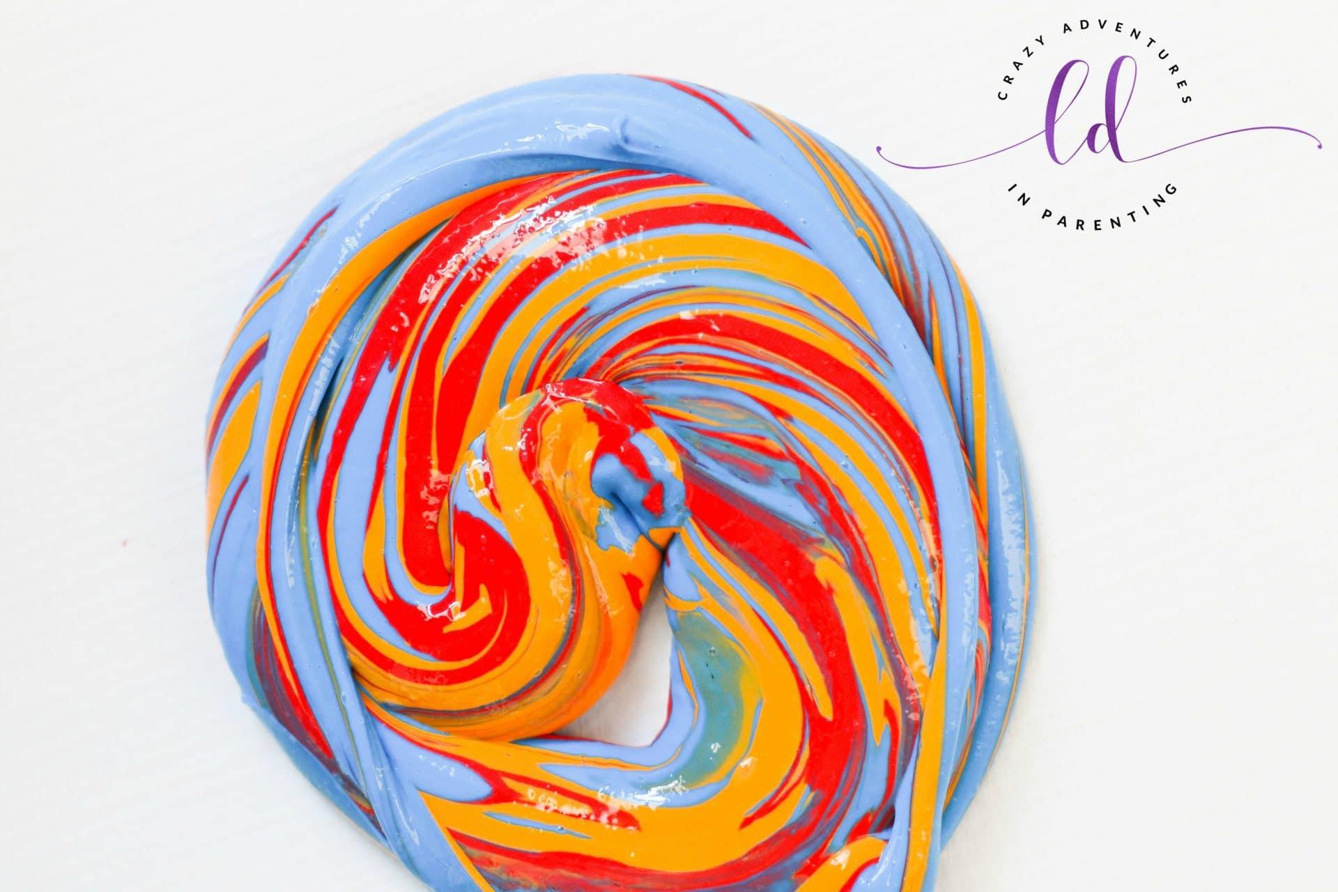 Swirled rainbow slime