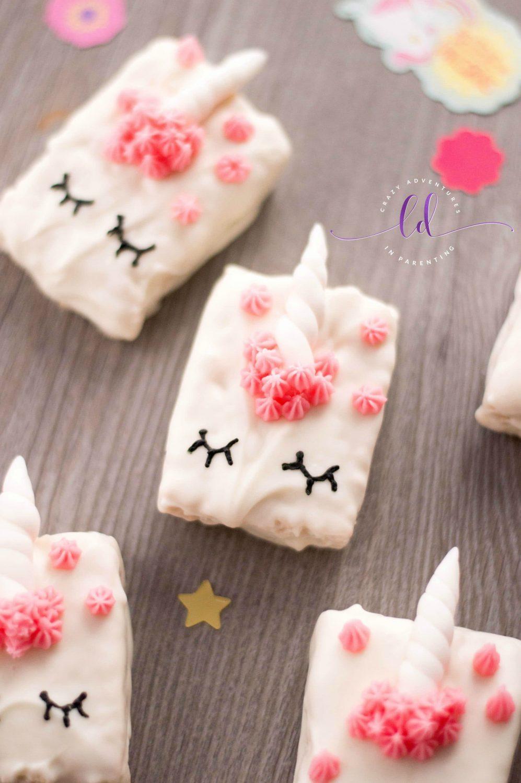 Unicorn Cereal Treats for a birthday