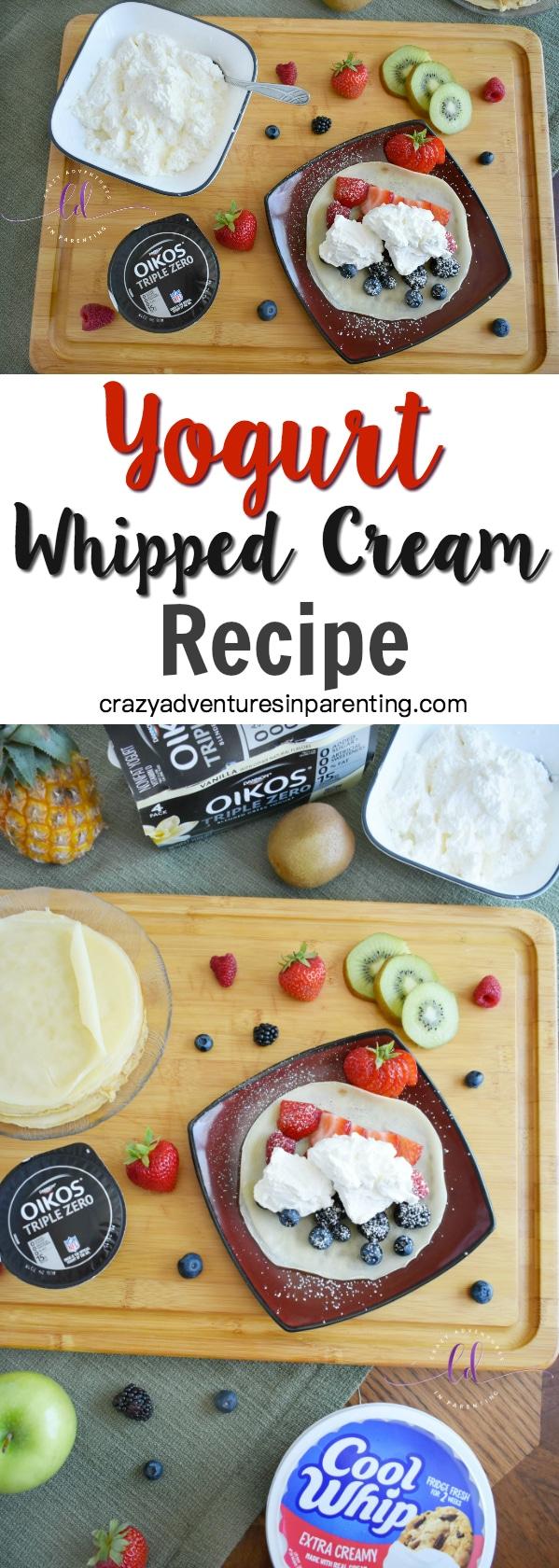 Yogurt Whipped Cream Recipe