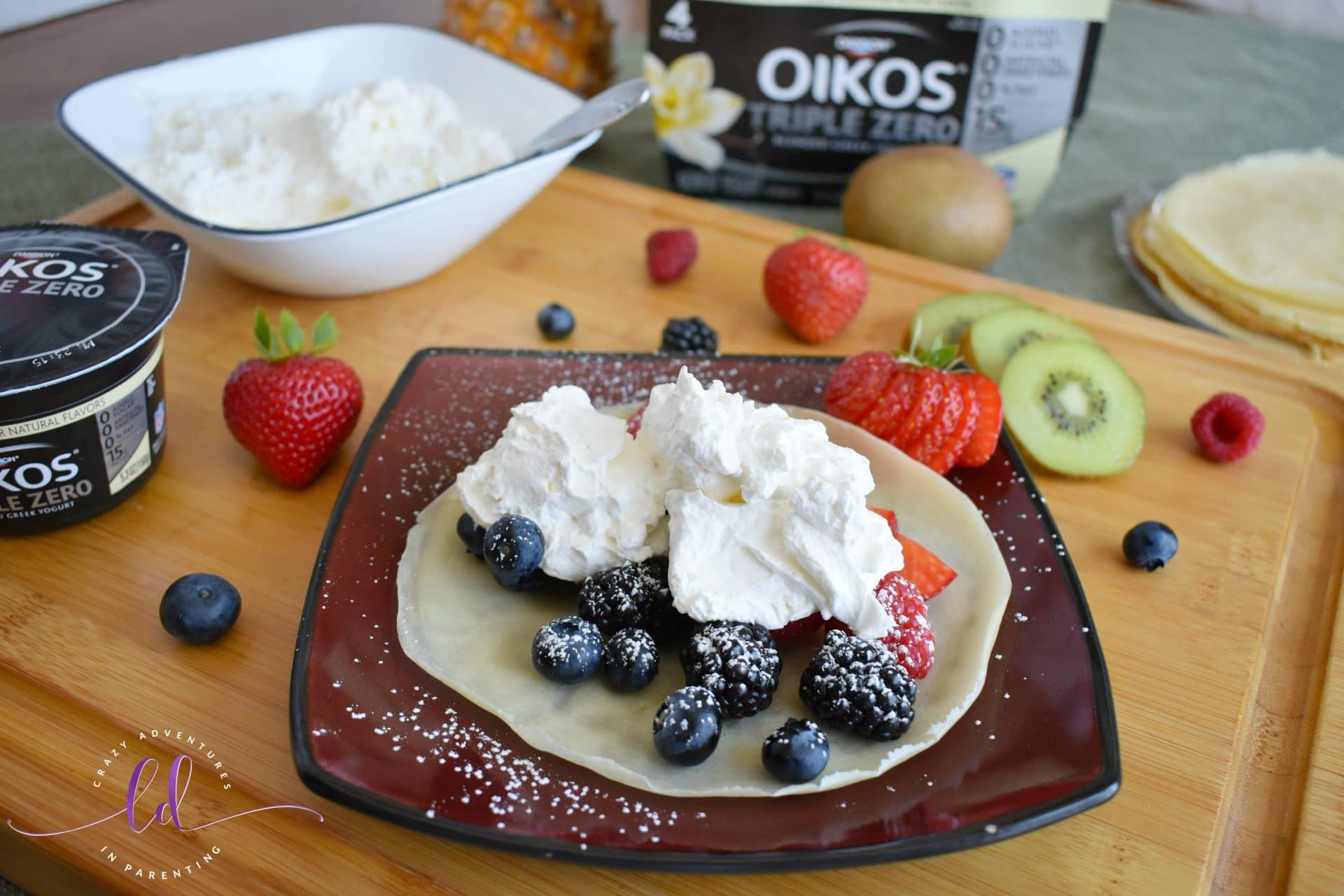 Yogurt Whipped Cream for Fruit Crepes