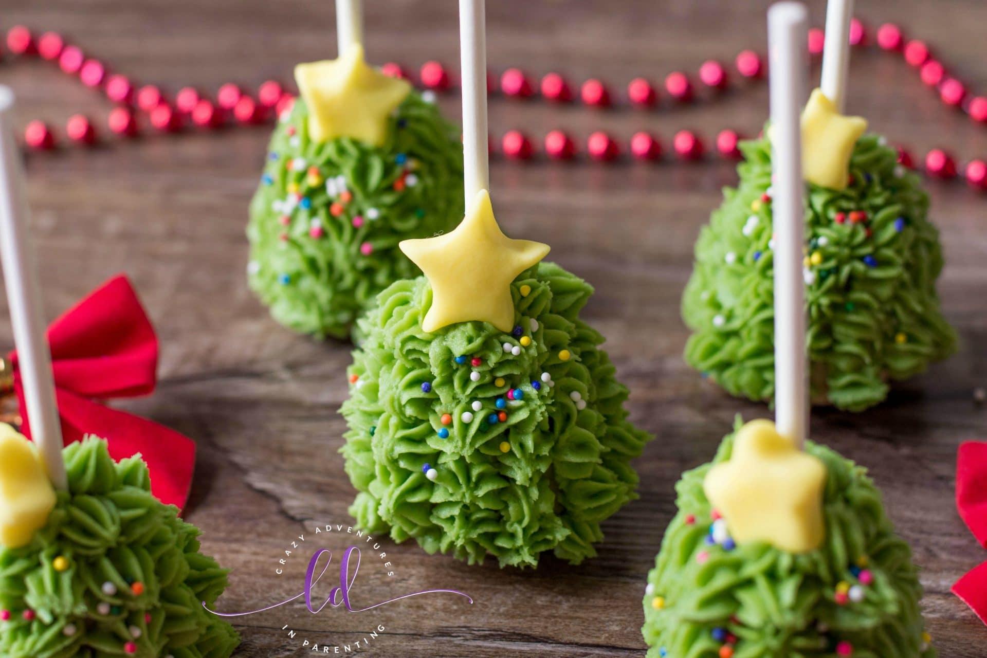 Christmas Tree Cake Pops for Xmas