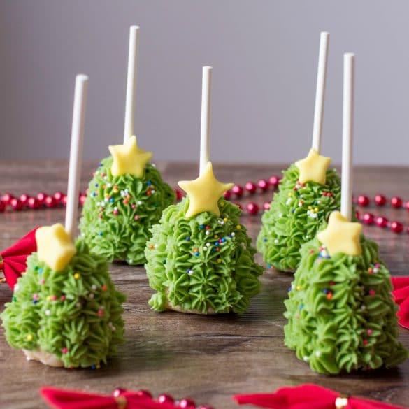 Easy Christmas Tree Cake Pops