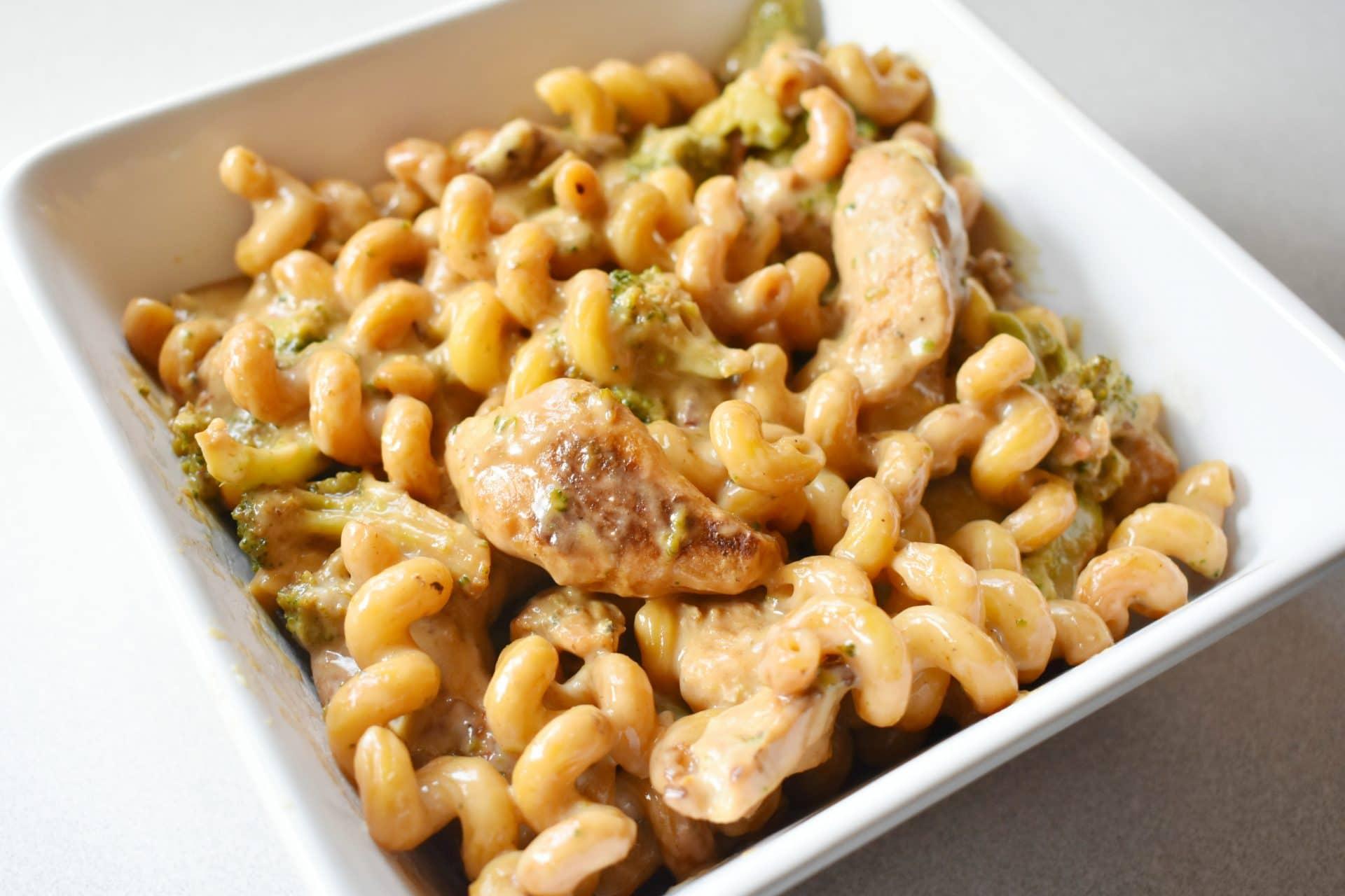 Tyson Frozen Dinner Kit - Four Cheese Chicken & Broccoli Pasta prepared