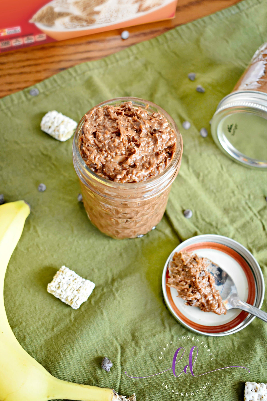 Chocolate Peanut Butter Banana Overnight Oats