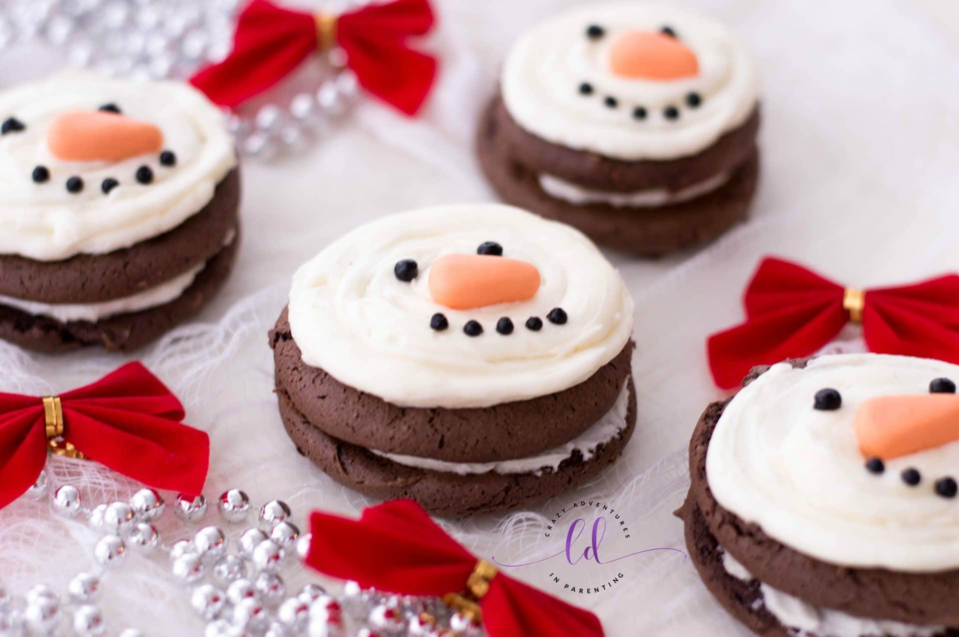 Cute Snowman Whoopie Pies