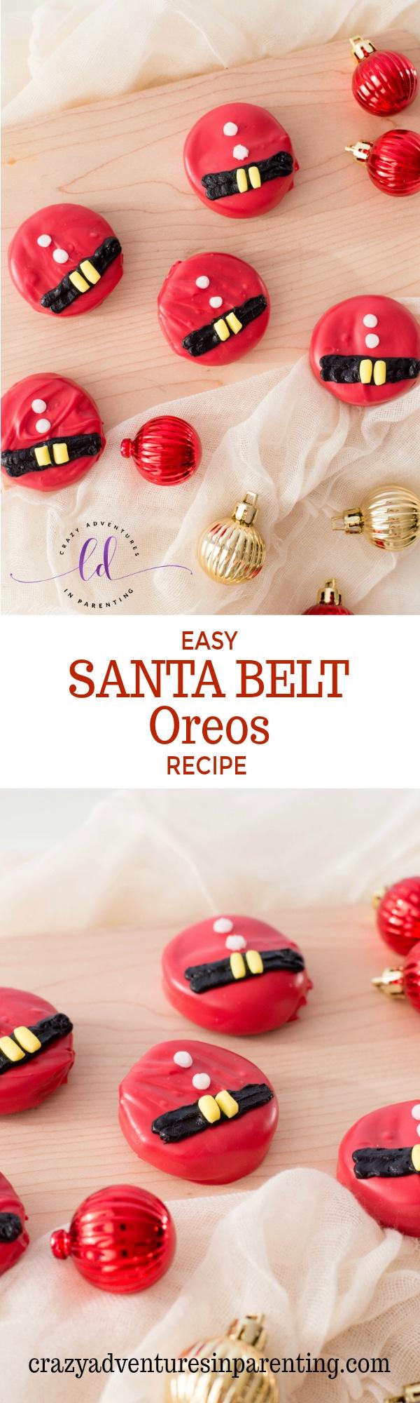 Easy Santa Belt Oreos Recipe