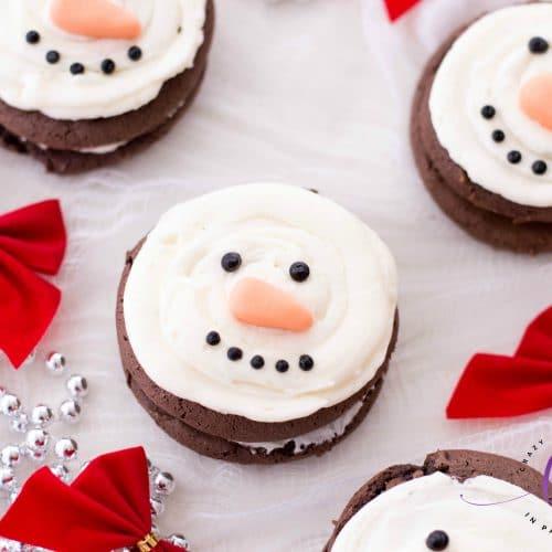 Easy Snowman Whoopie Pies
