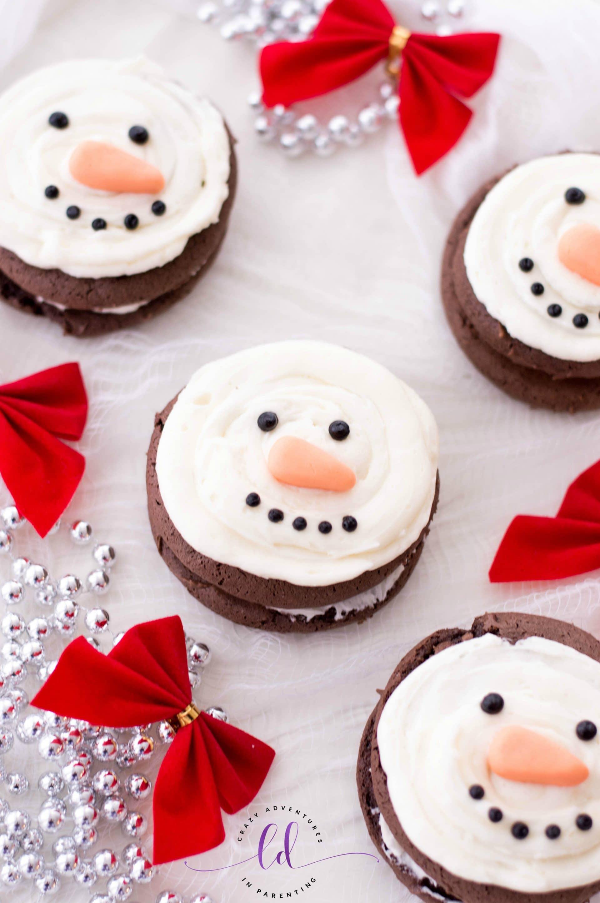 Festive Snowman Whoopie Pies