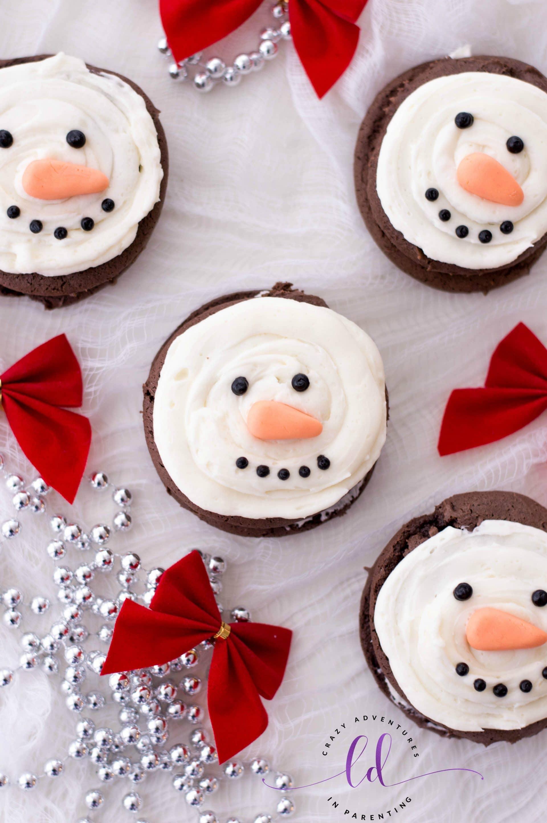 Fun Snowman Whoopie Pies