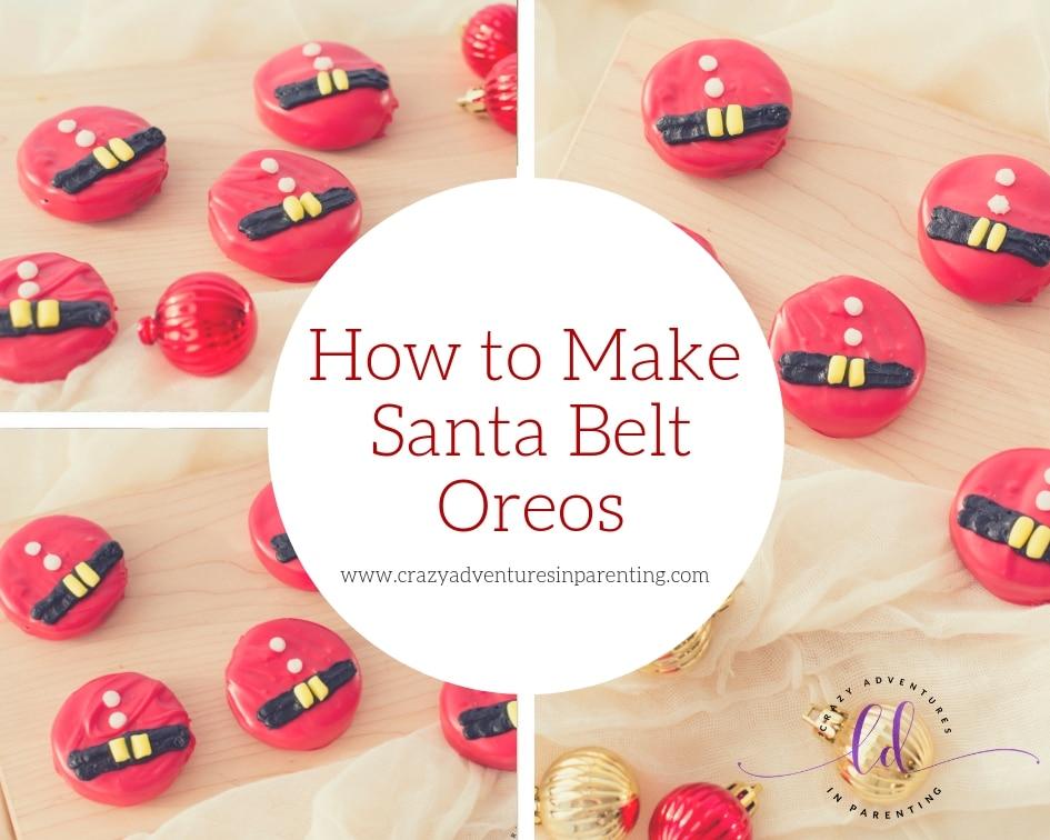 How to Make Santa Belt Oreos
