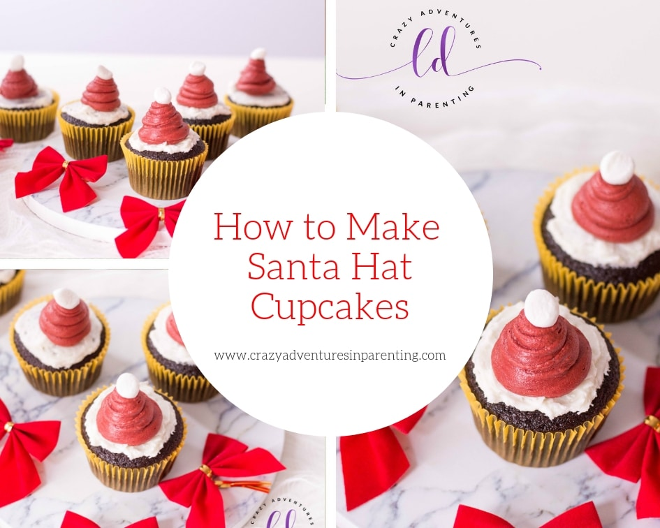 How to Make Santa Hat Cupcakes