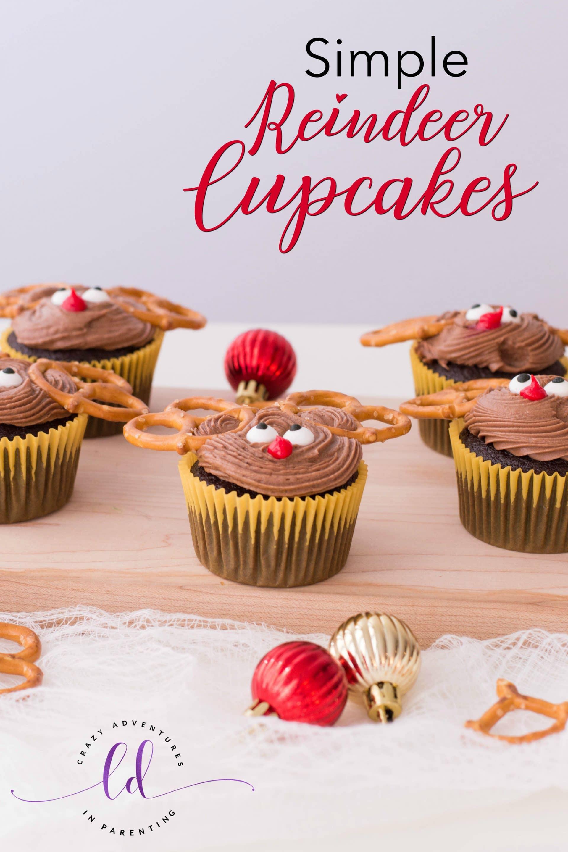 Simple Reindeer Cupcakes
