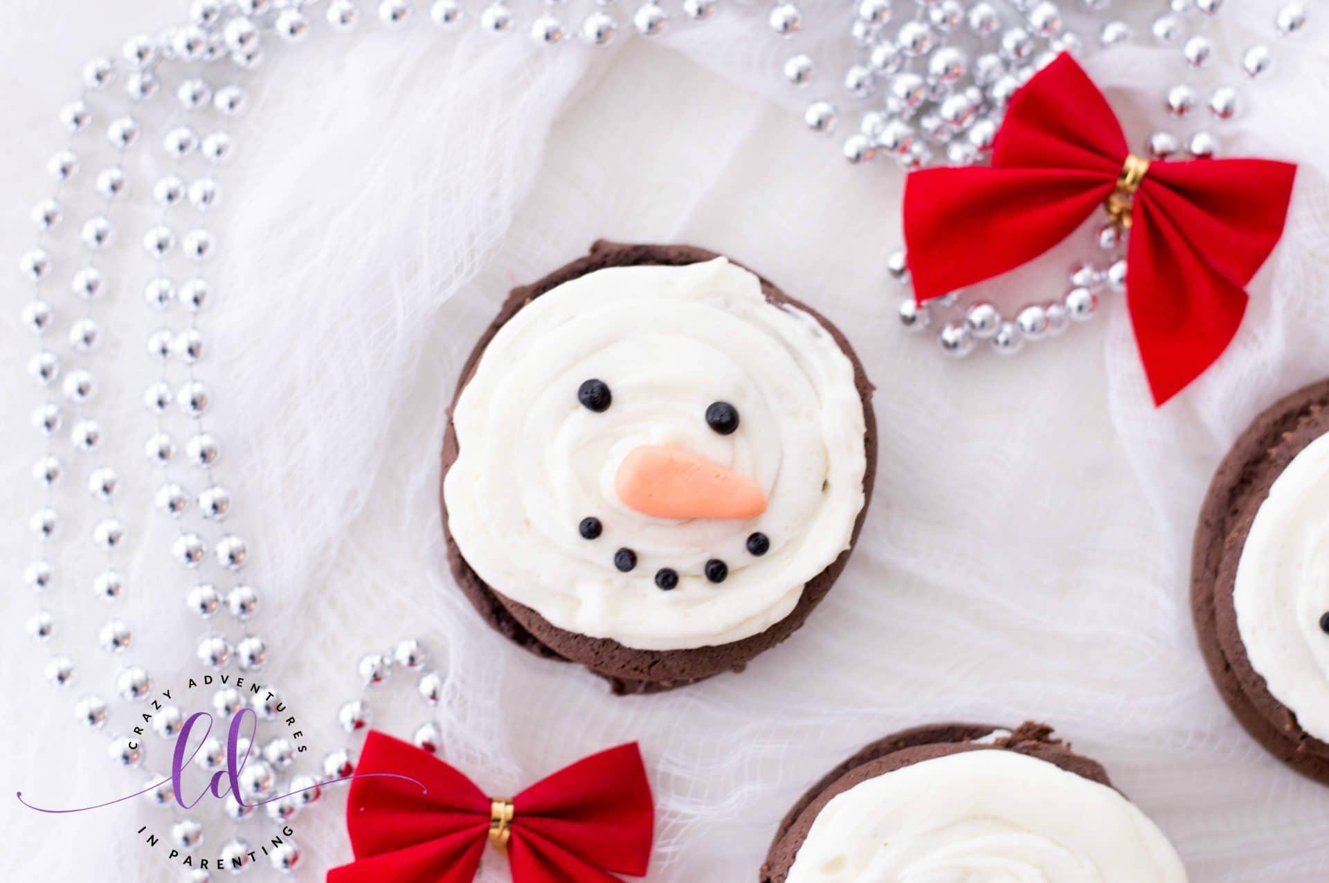 Simple Snowman Whoopie Pies