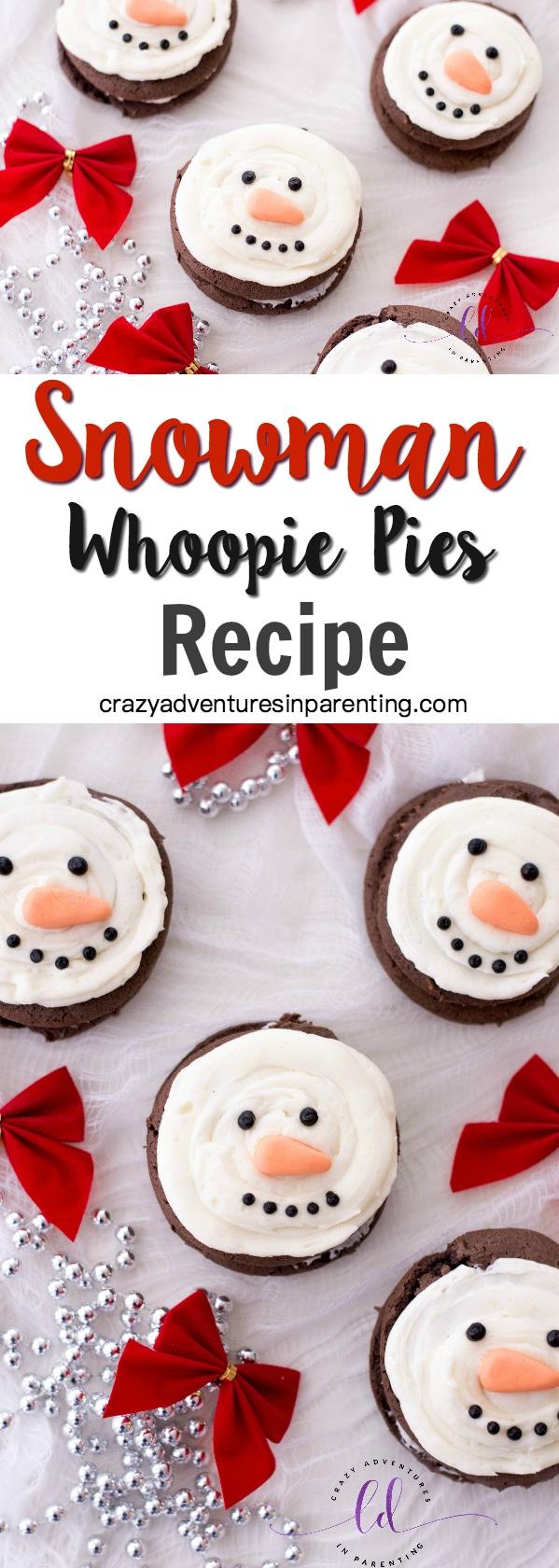 Snowman Whoopie Pies Recipe