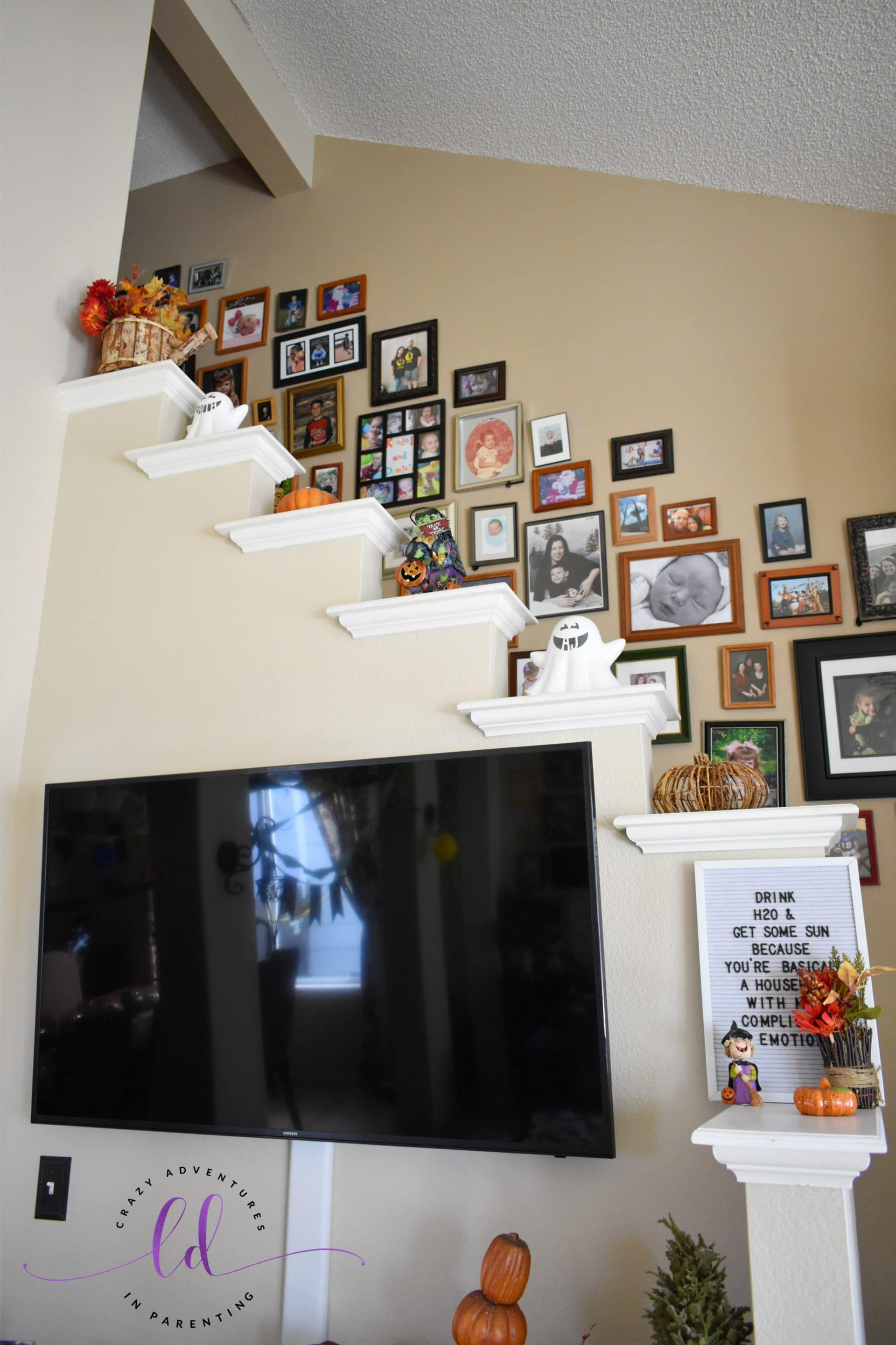 Stairs Ledge Halloween and Fall Decor