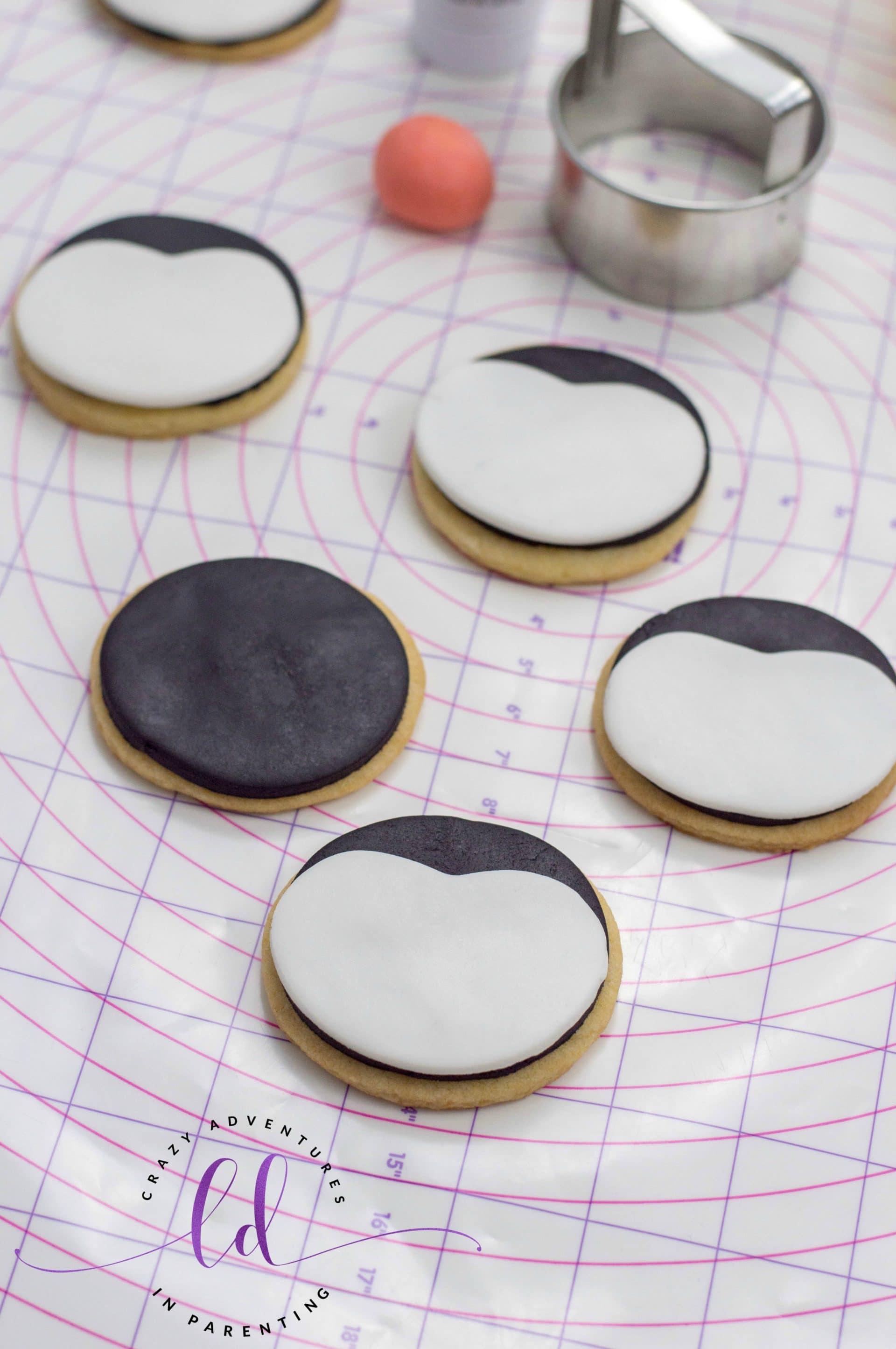 Add Fondant to Penguin Cookies