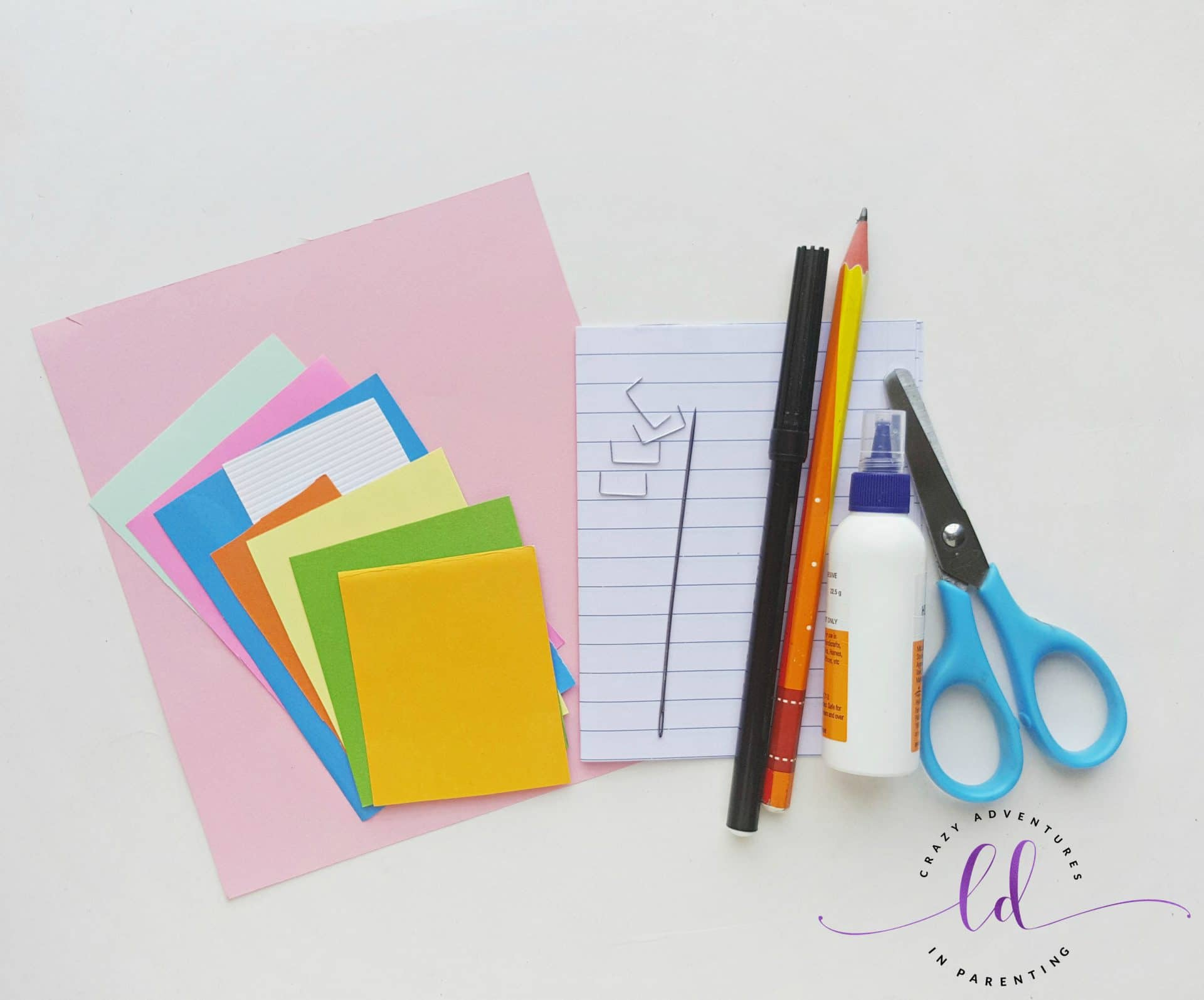 DIY Unicorn Notebook - Supplies