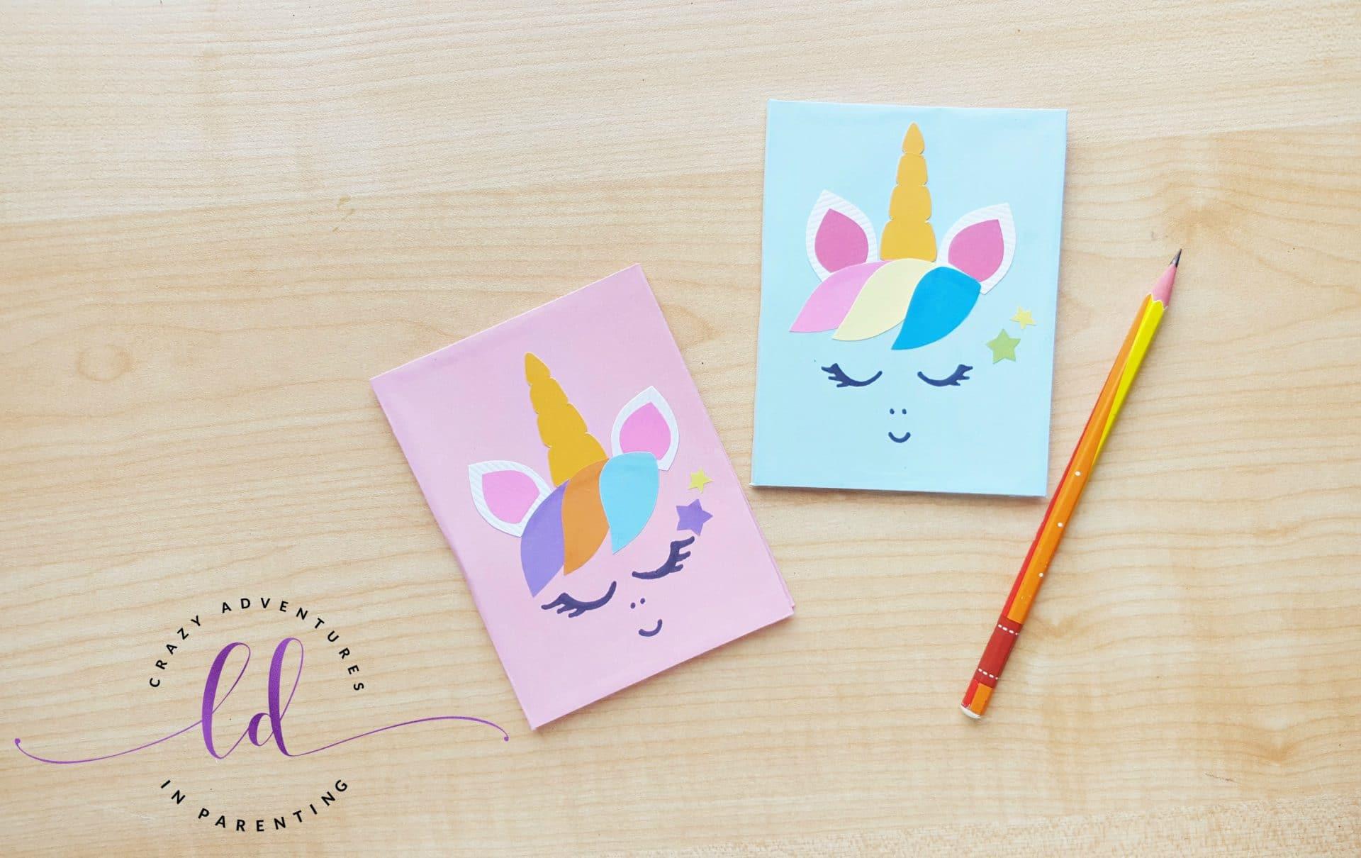 Easy DIY Unicorn Notebooks