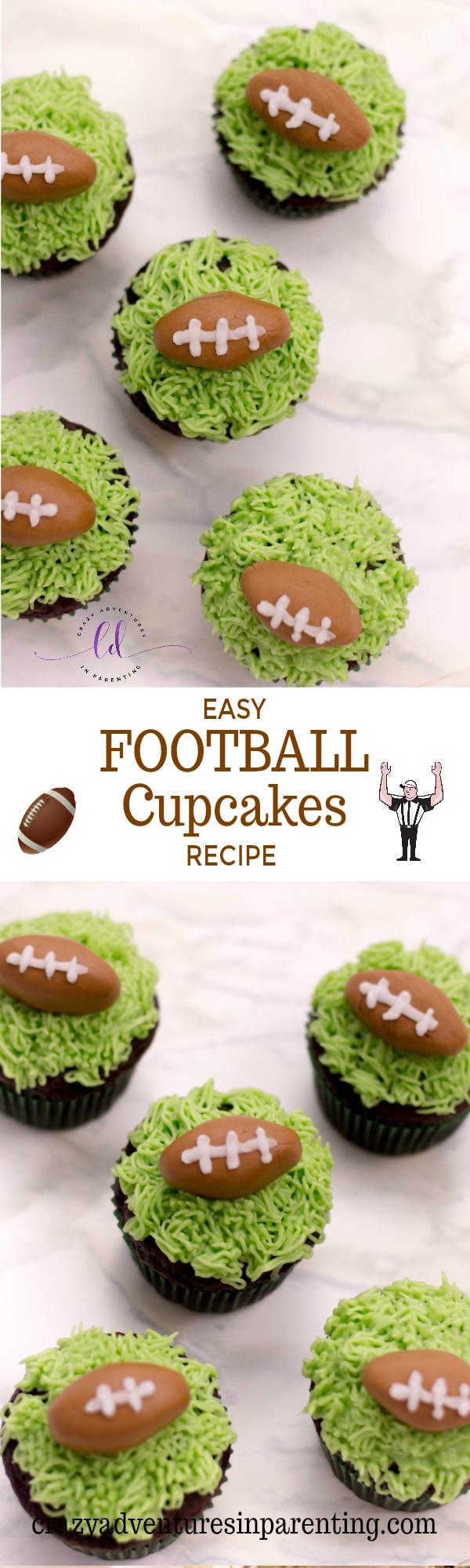 Easy Football Cupcakes Recipe