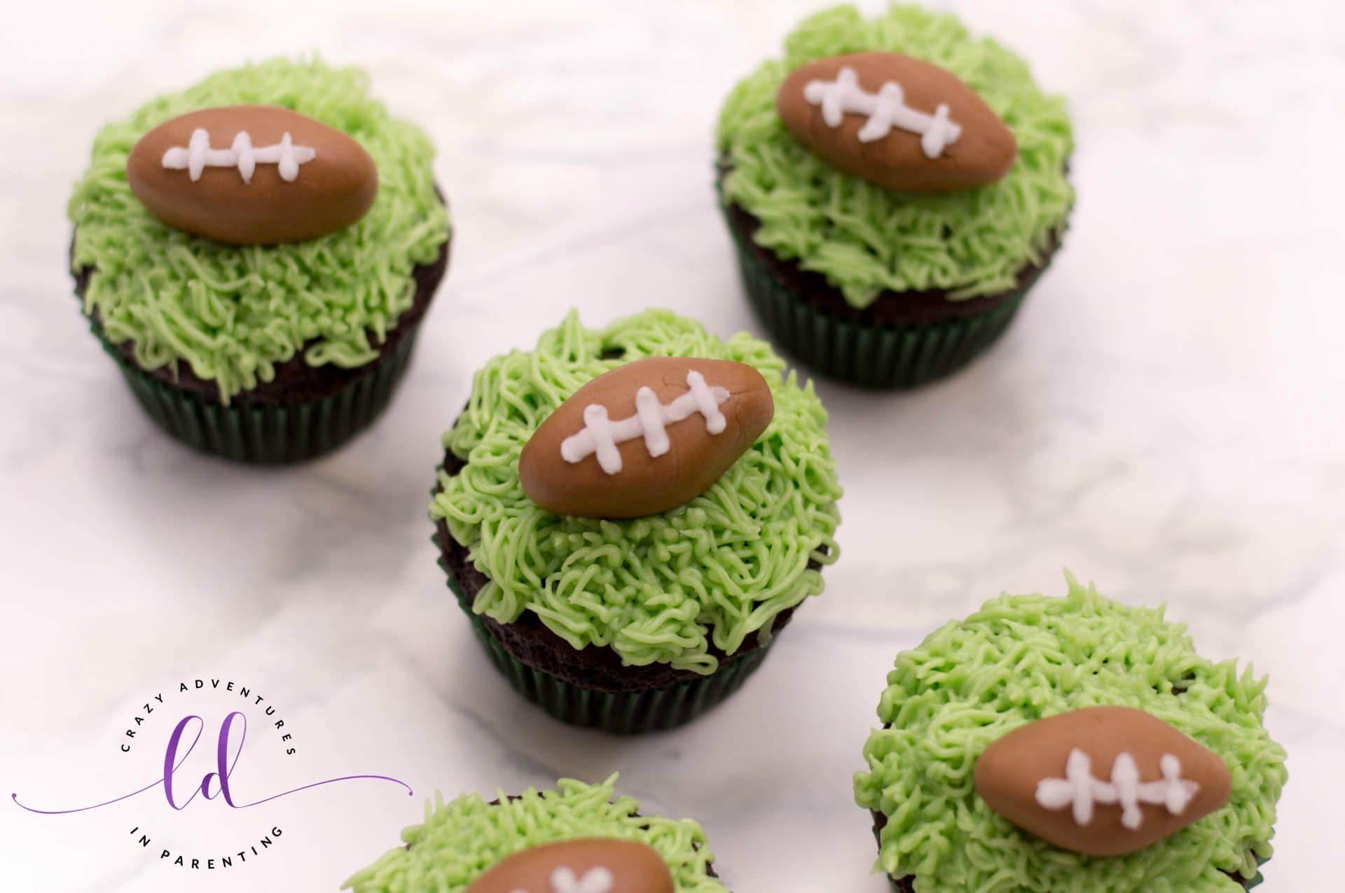 Easy Football Cupcakes for Game Day