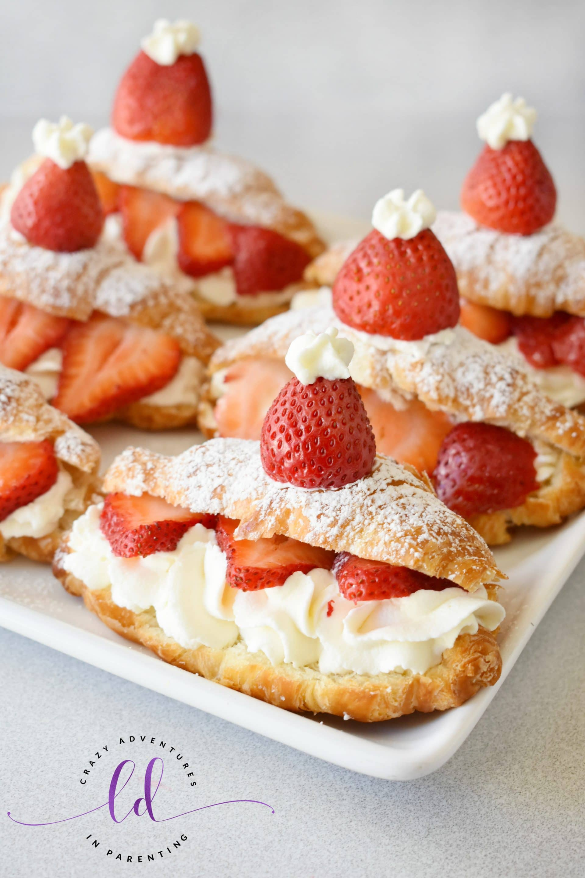 Easy Mini Strawberry Shortcake Croissants