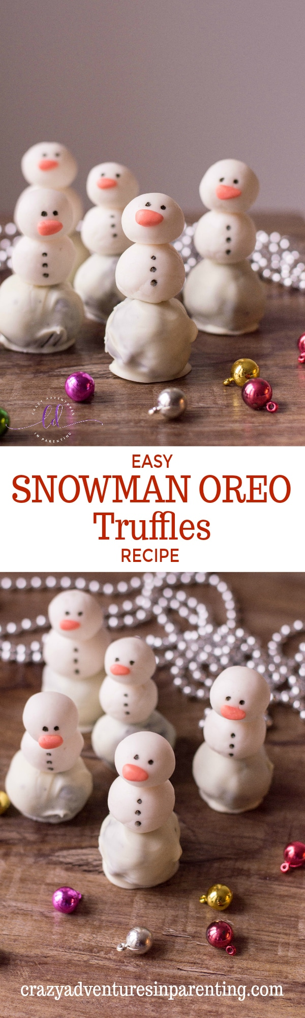 Easy Snowman Oreo Truffles Recipe