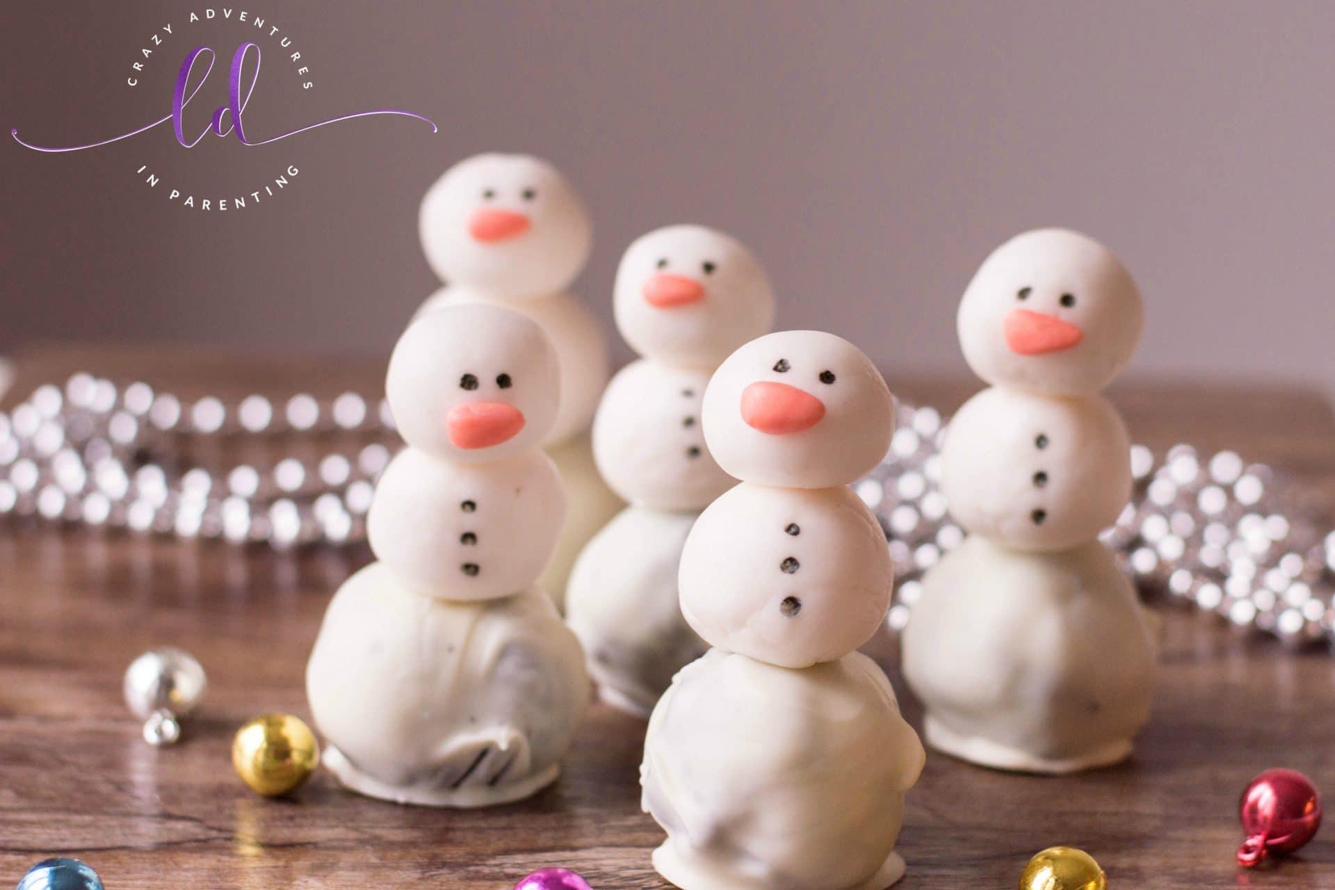Easy Snowman Oreo Truffles