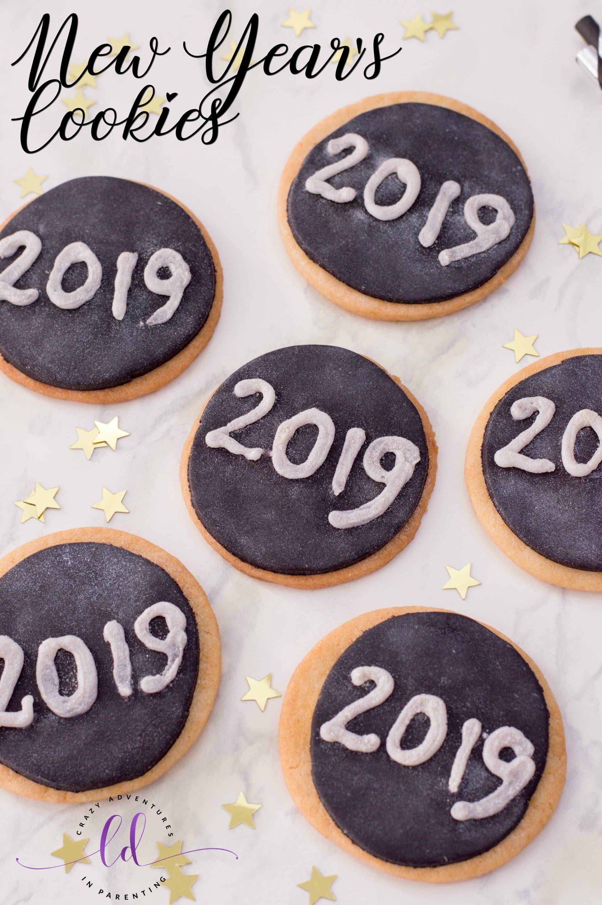 Glitter New Year's Cookies Recipe