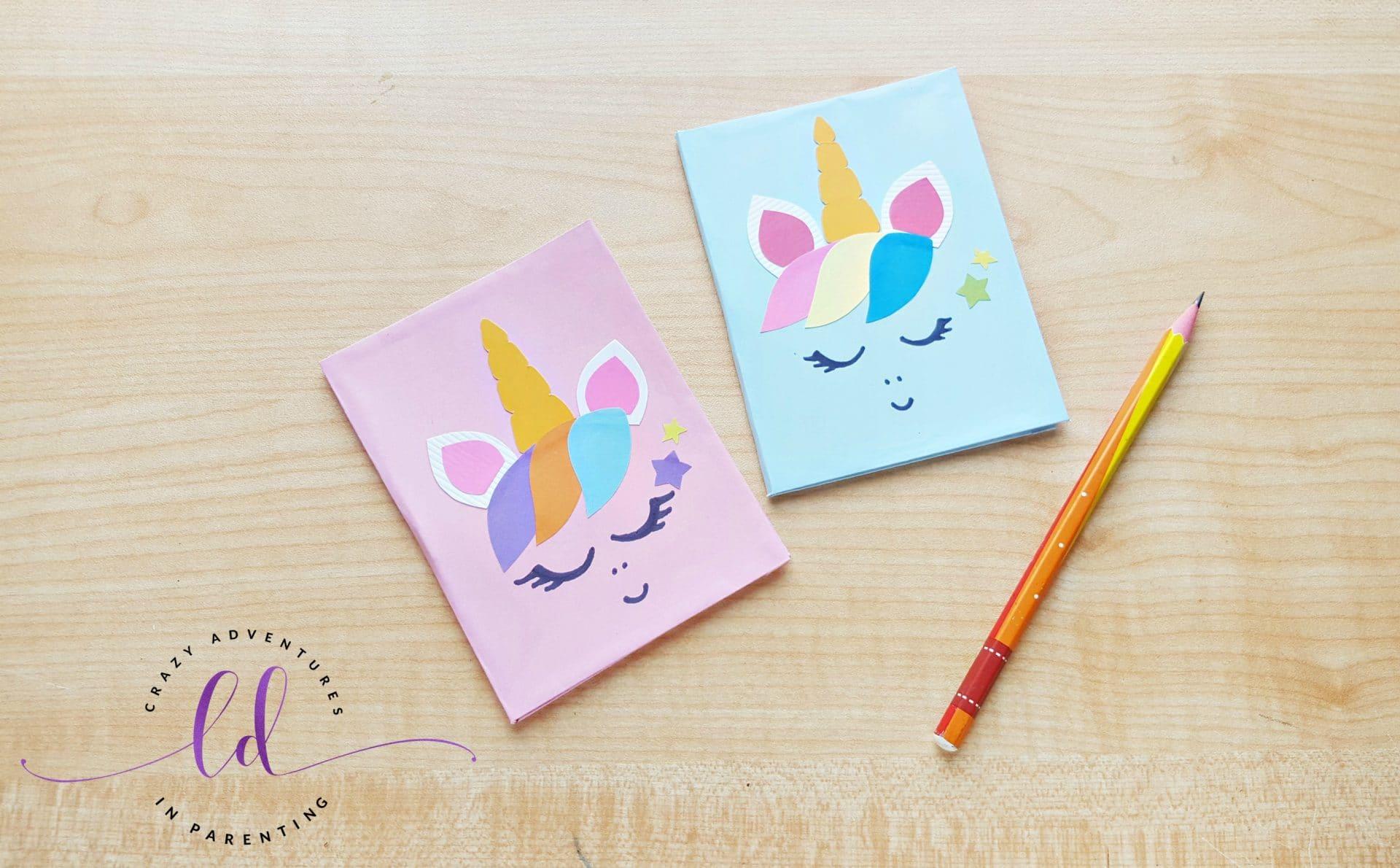 Handmade Unicorn Notebooks
