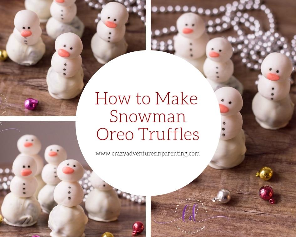 How to Make Snowman Oreo Truffles