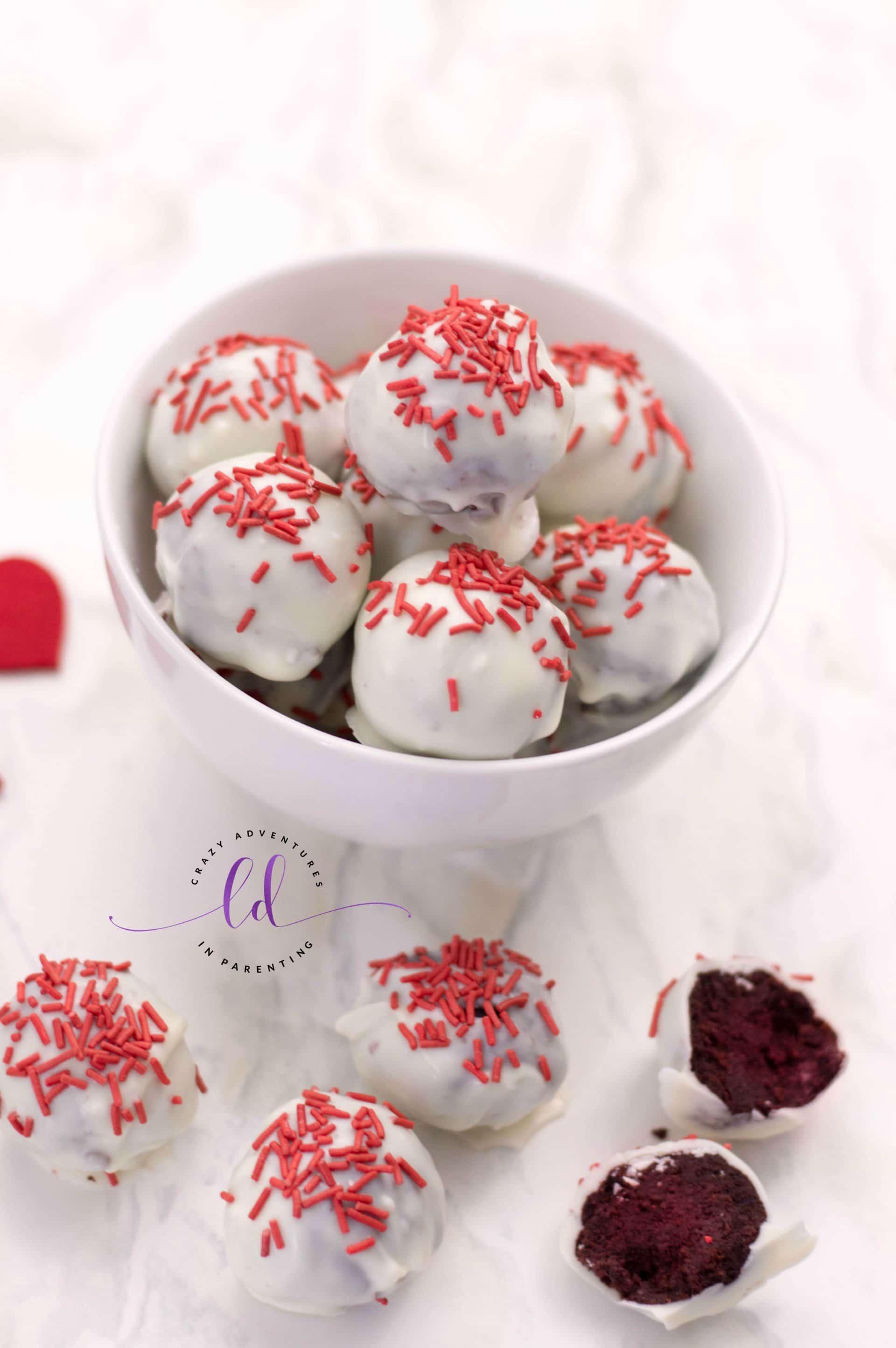 Red Velvet Truffles for Valentine's Day