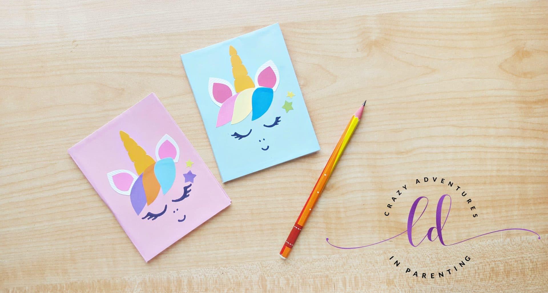 Simple DIY Unicorn Notebooks